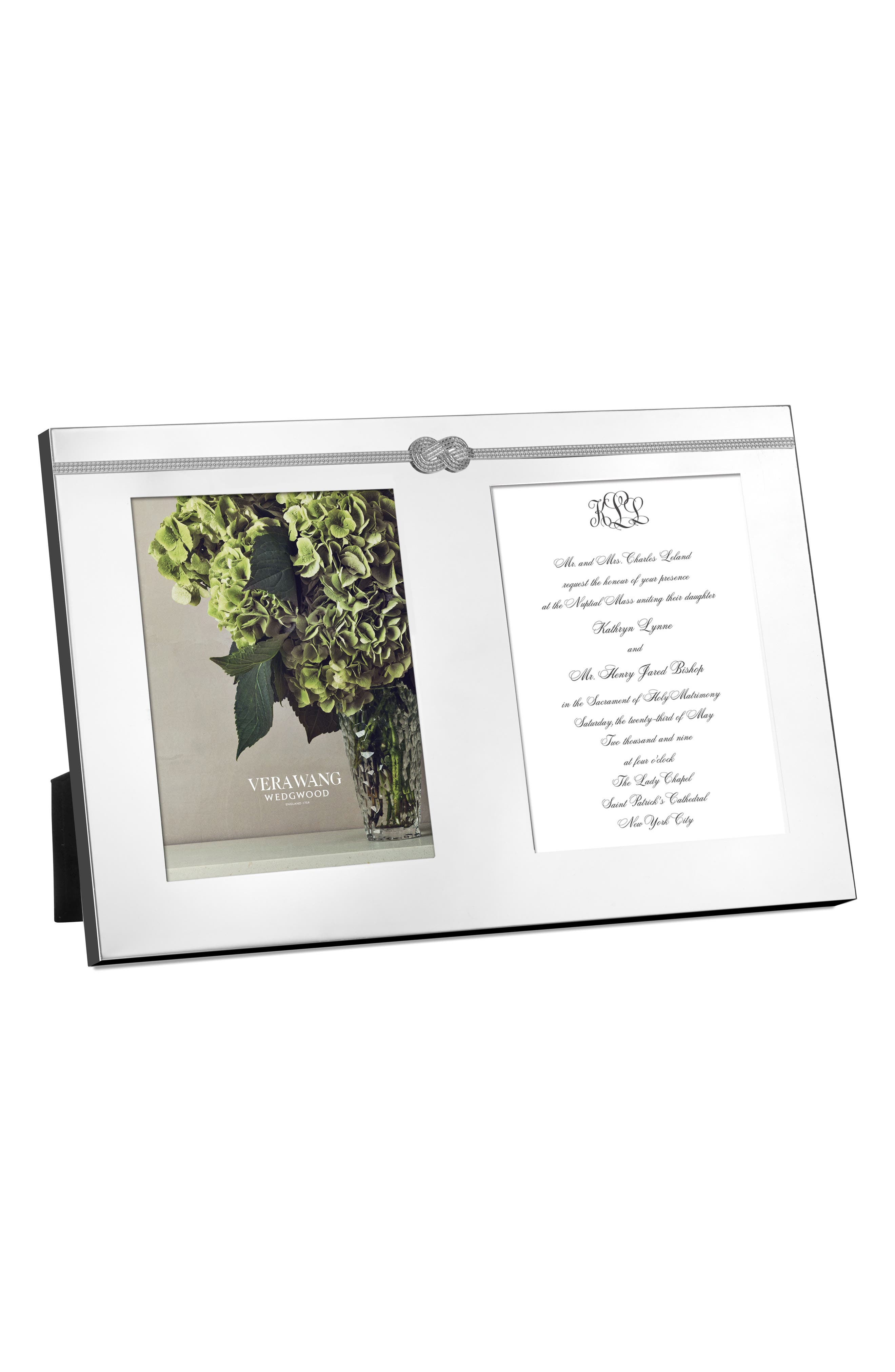 Vera Wang x Wedgwood Infinity Double Invitation Picture Frame