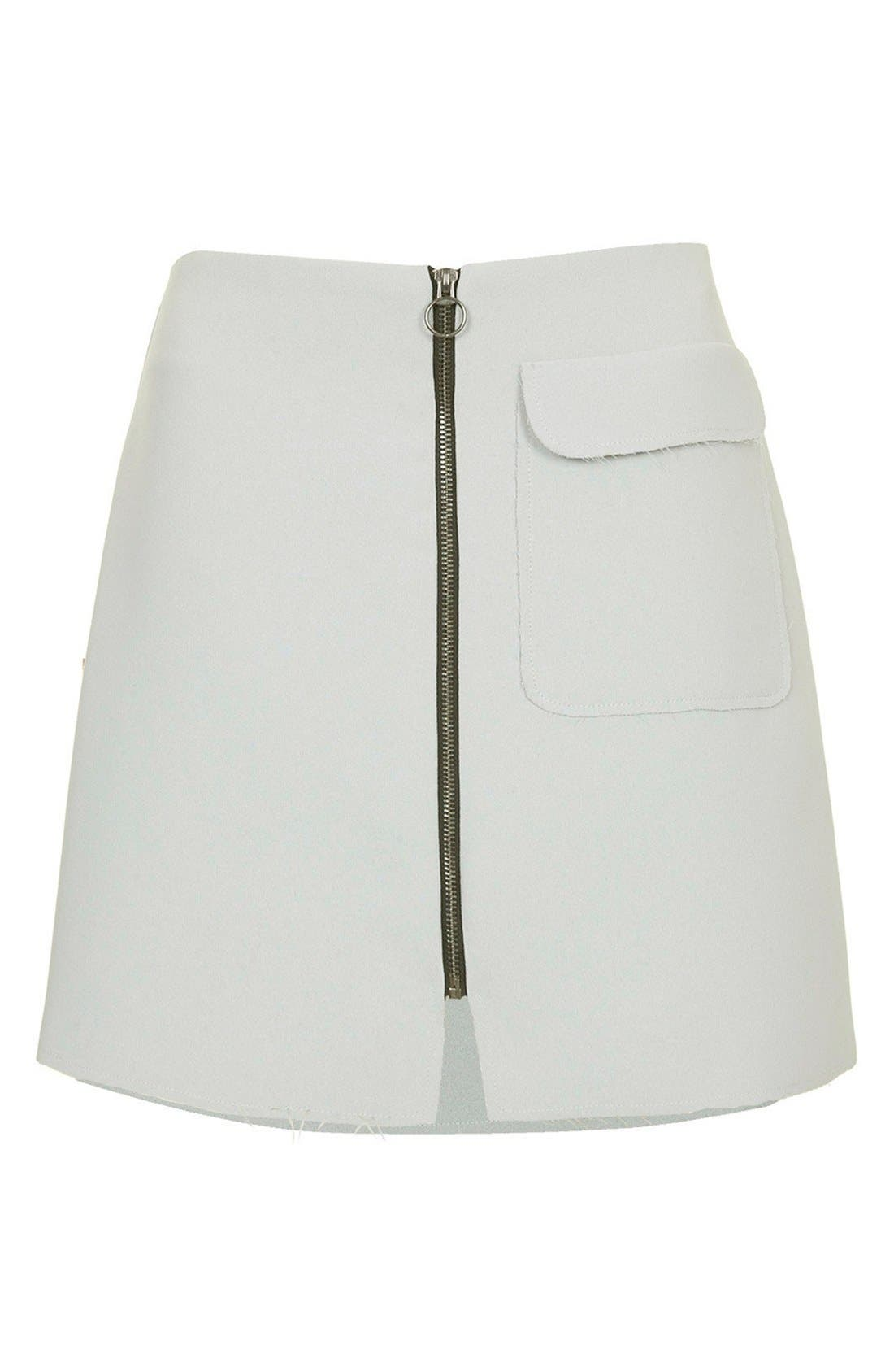 Alternate Image 3  - Topshop Distressed Crepe A-Line Skirt