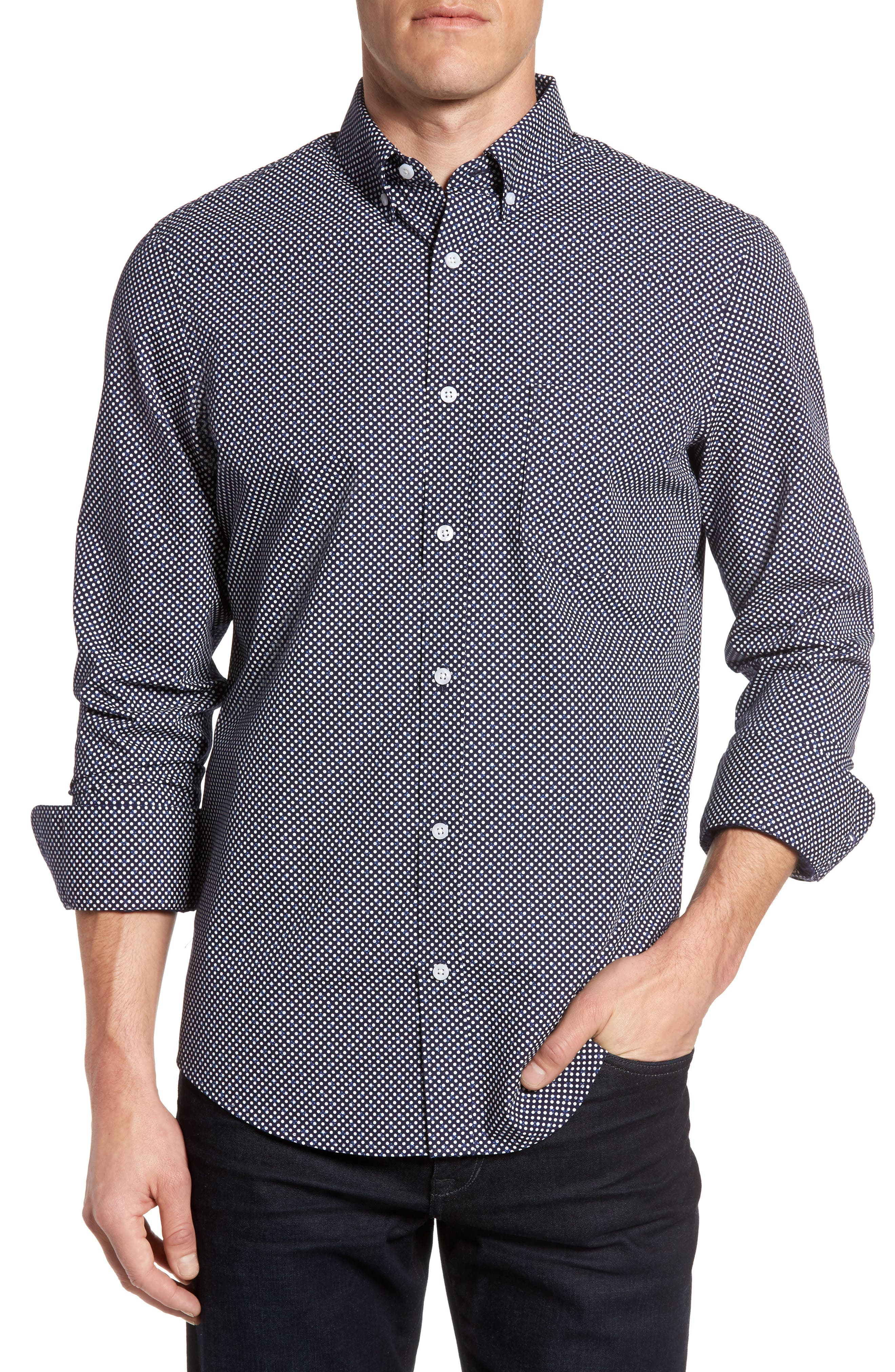 Nordstrom Men's Shop Regular Fit Non-Iron Dress Shirt (Regular & Tall)