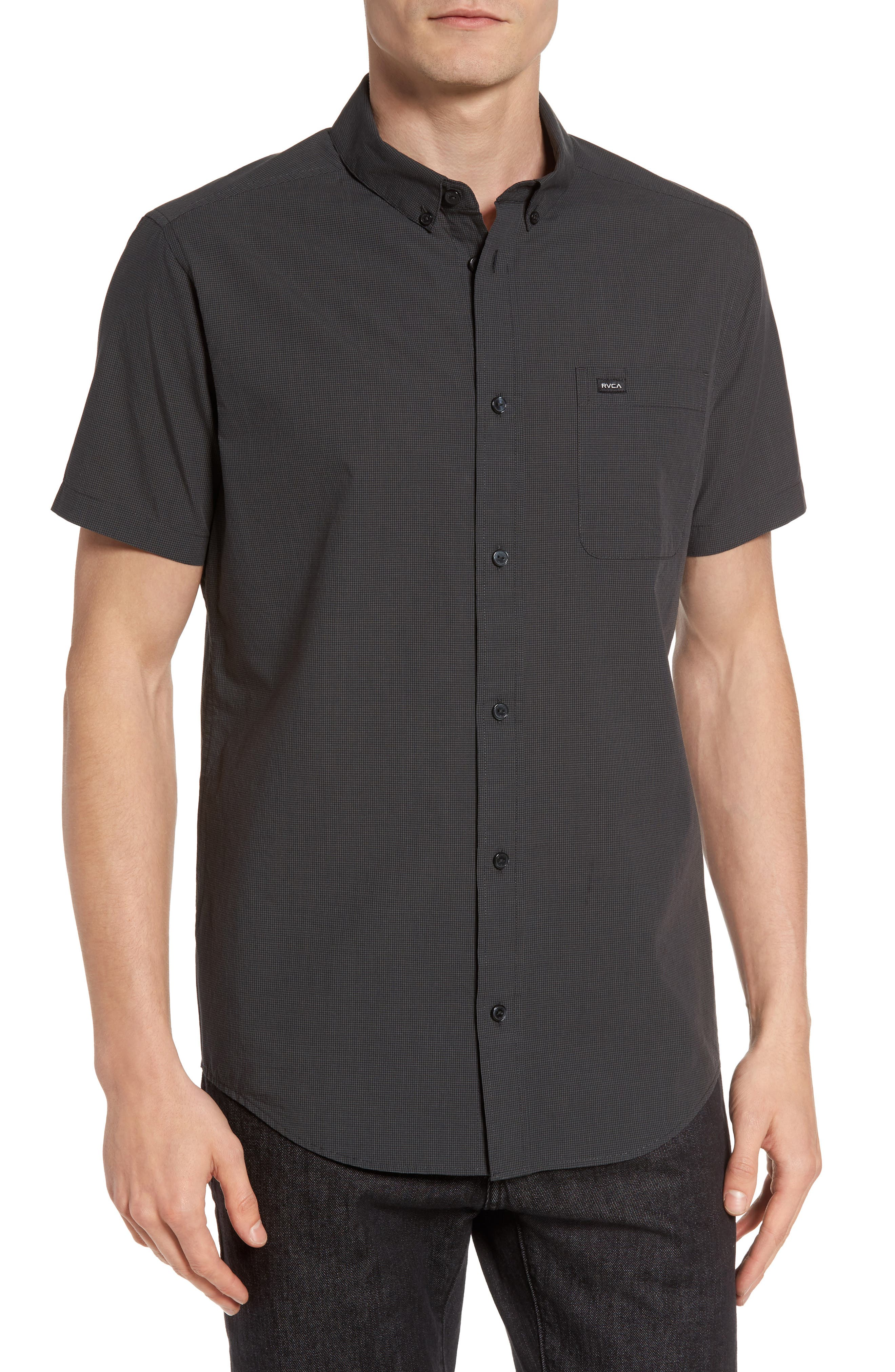 RVCA That'll Do Microcheck Woven Shirt