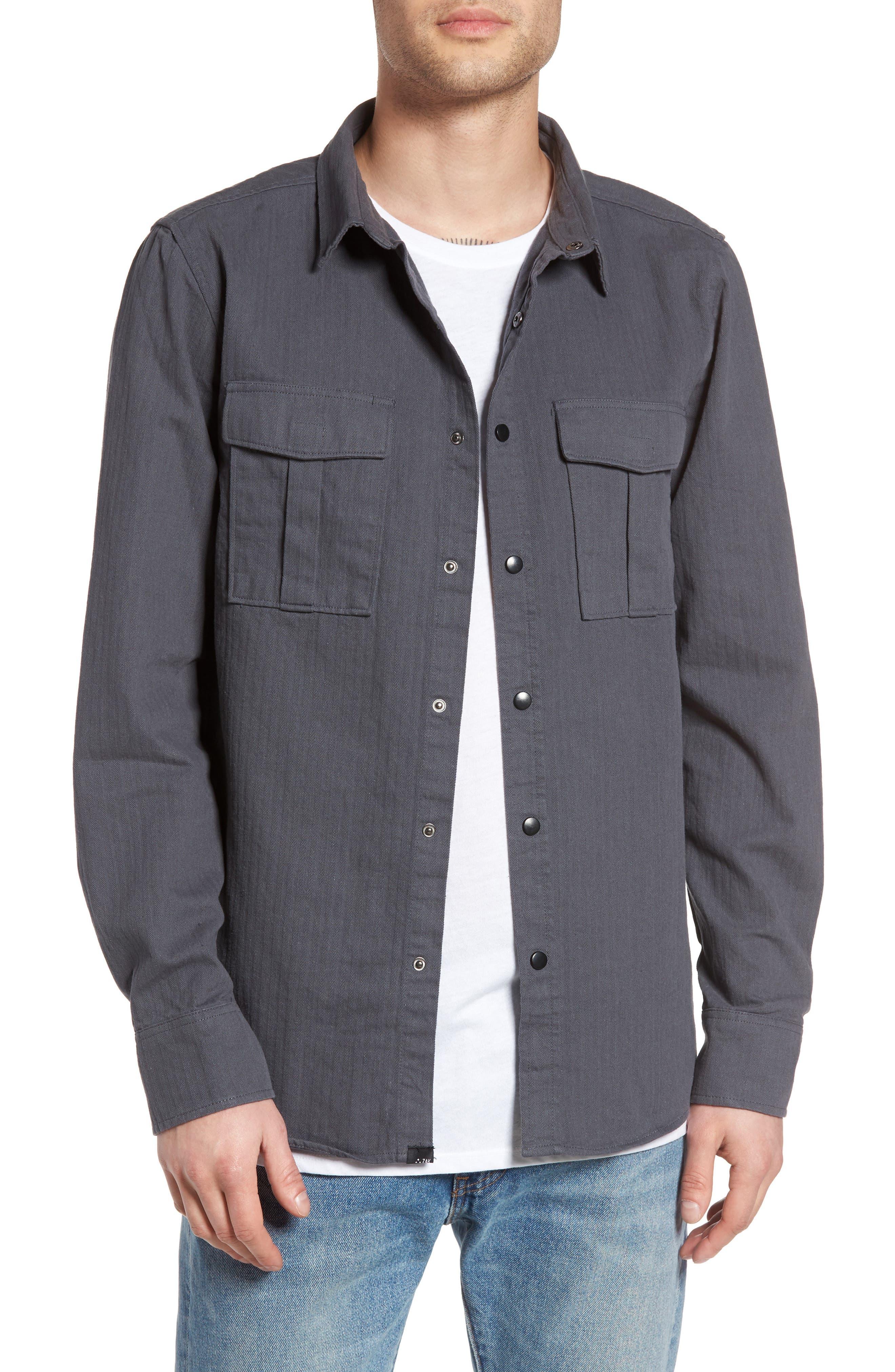 Z.A.K. Brand Euclid Herringbone Shirt Jacket