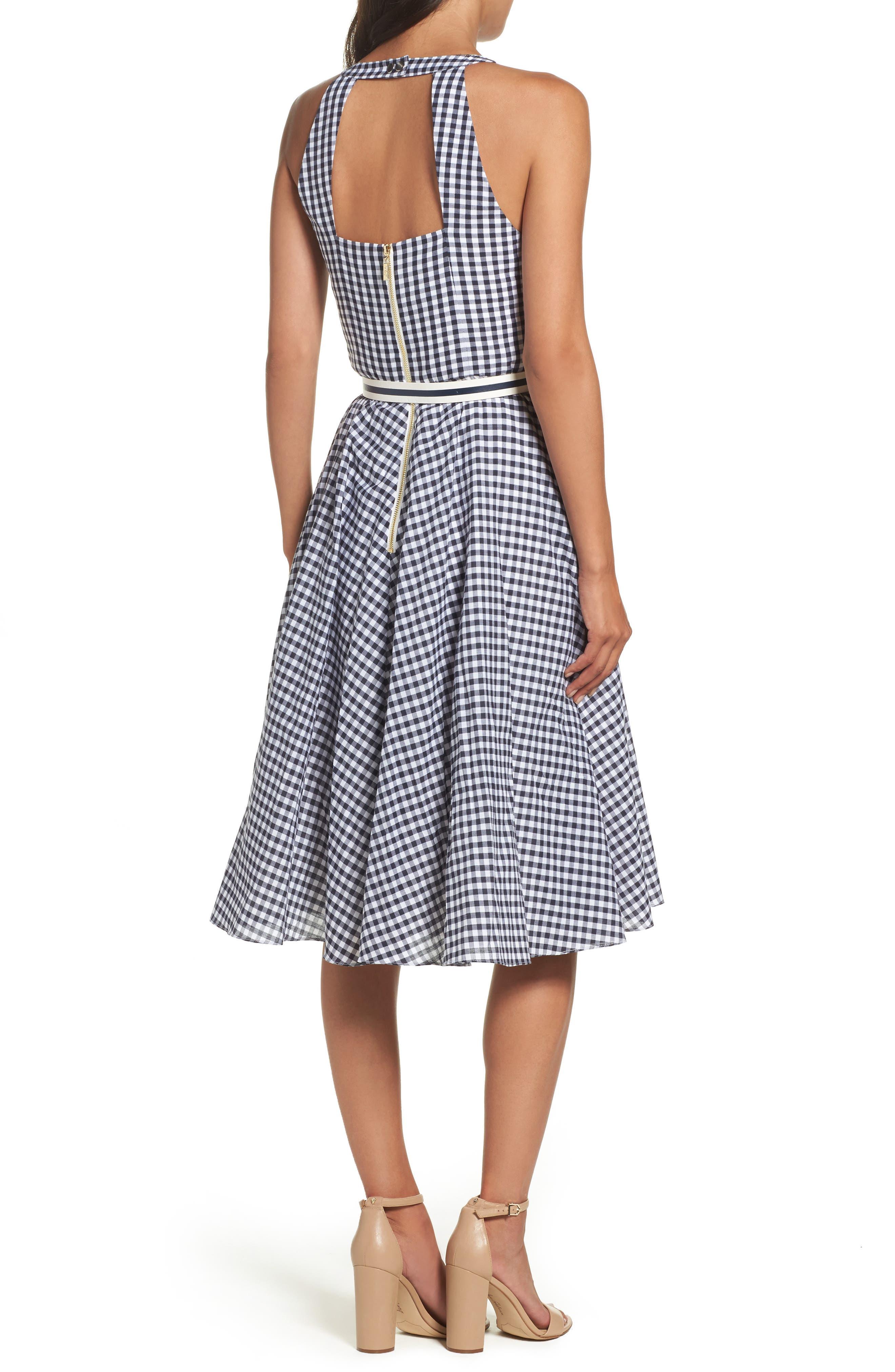Alternate Image 2  - Eliza J Belted Fit & Flare Dress