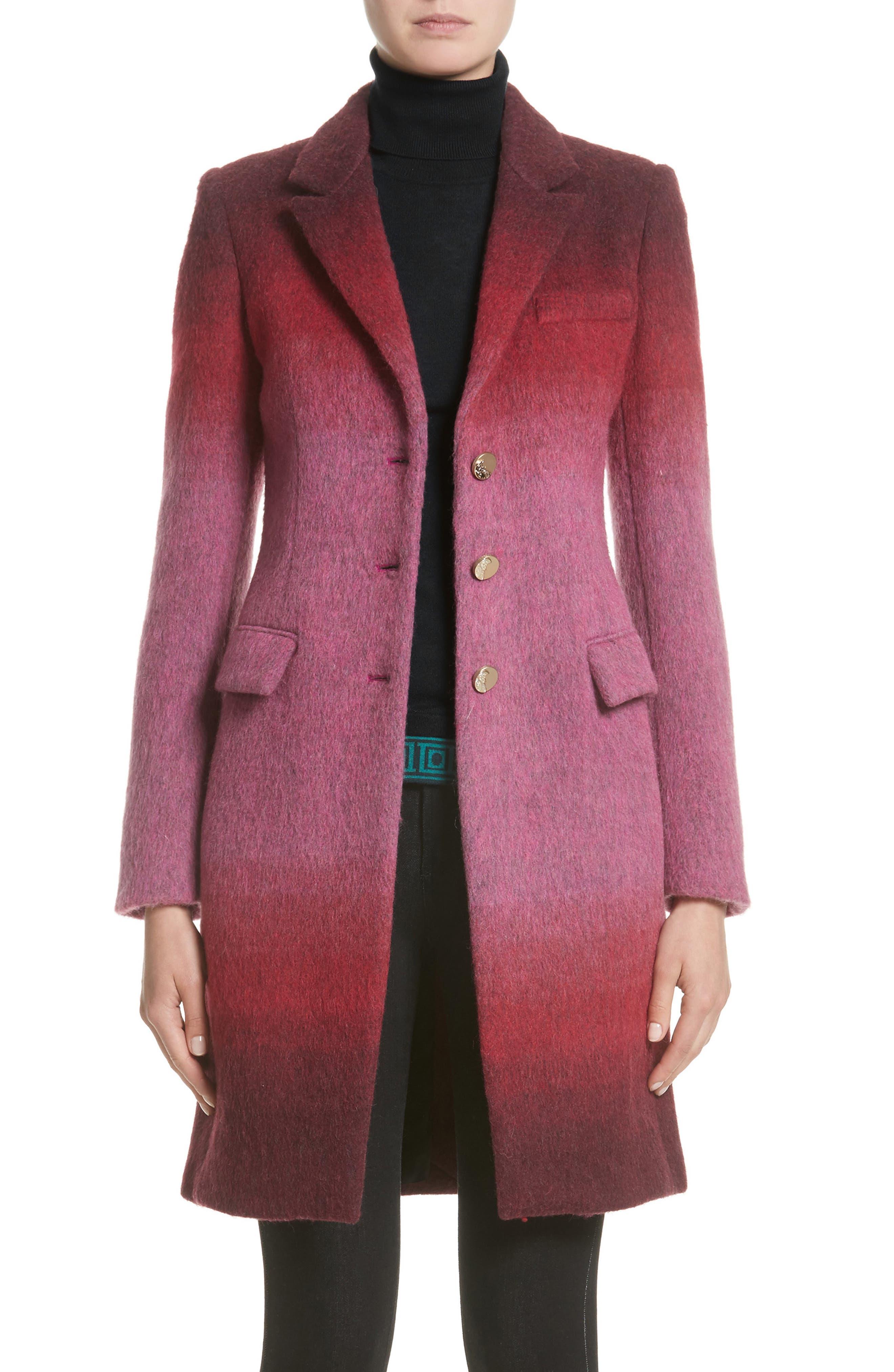 Versace Collection Dégradé Wool Blend Coat