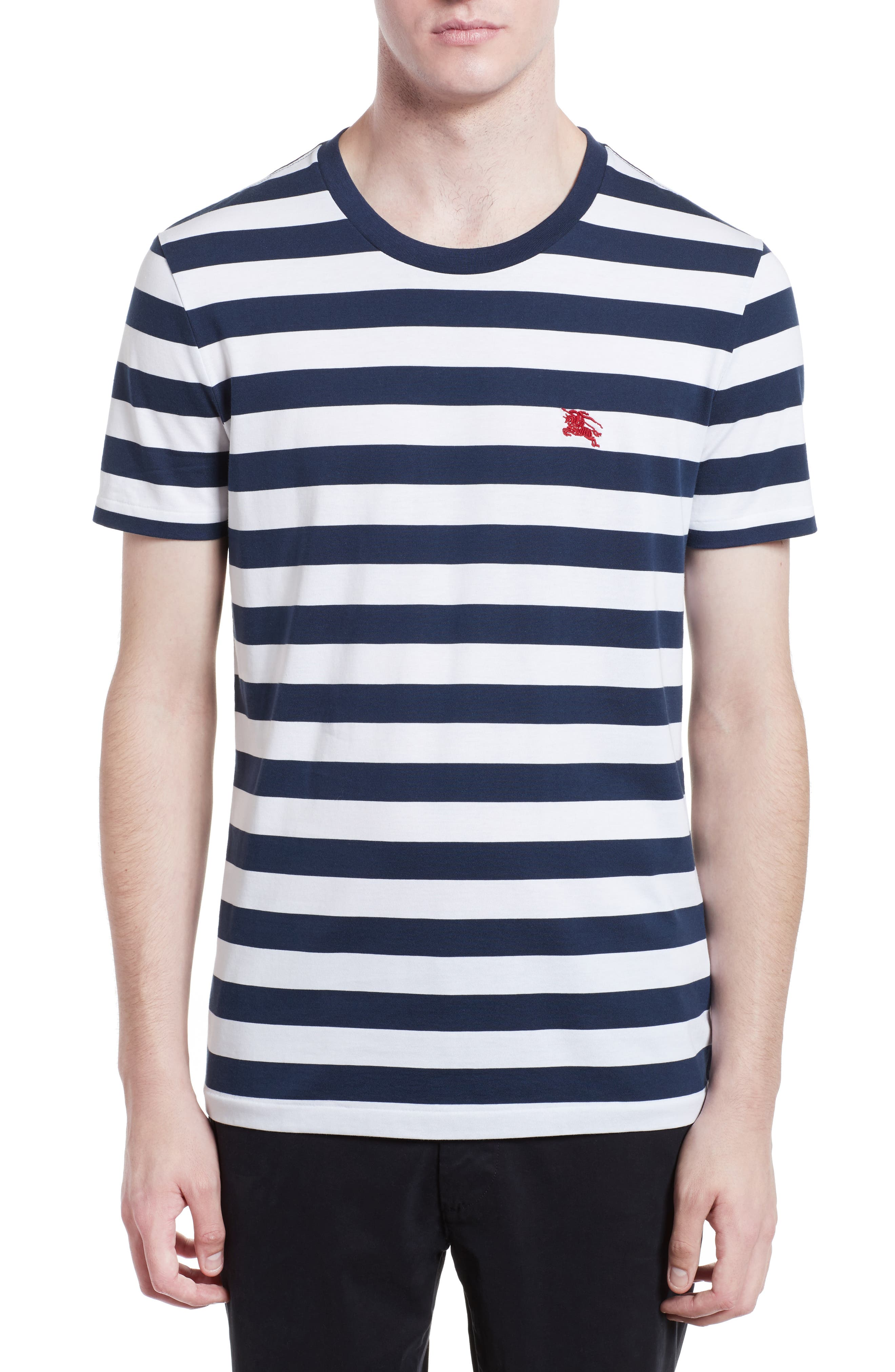 Burberry Torridge Trim Fit Stripe T-Shirt