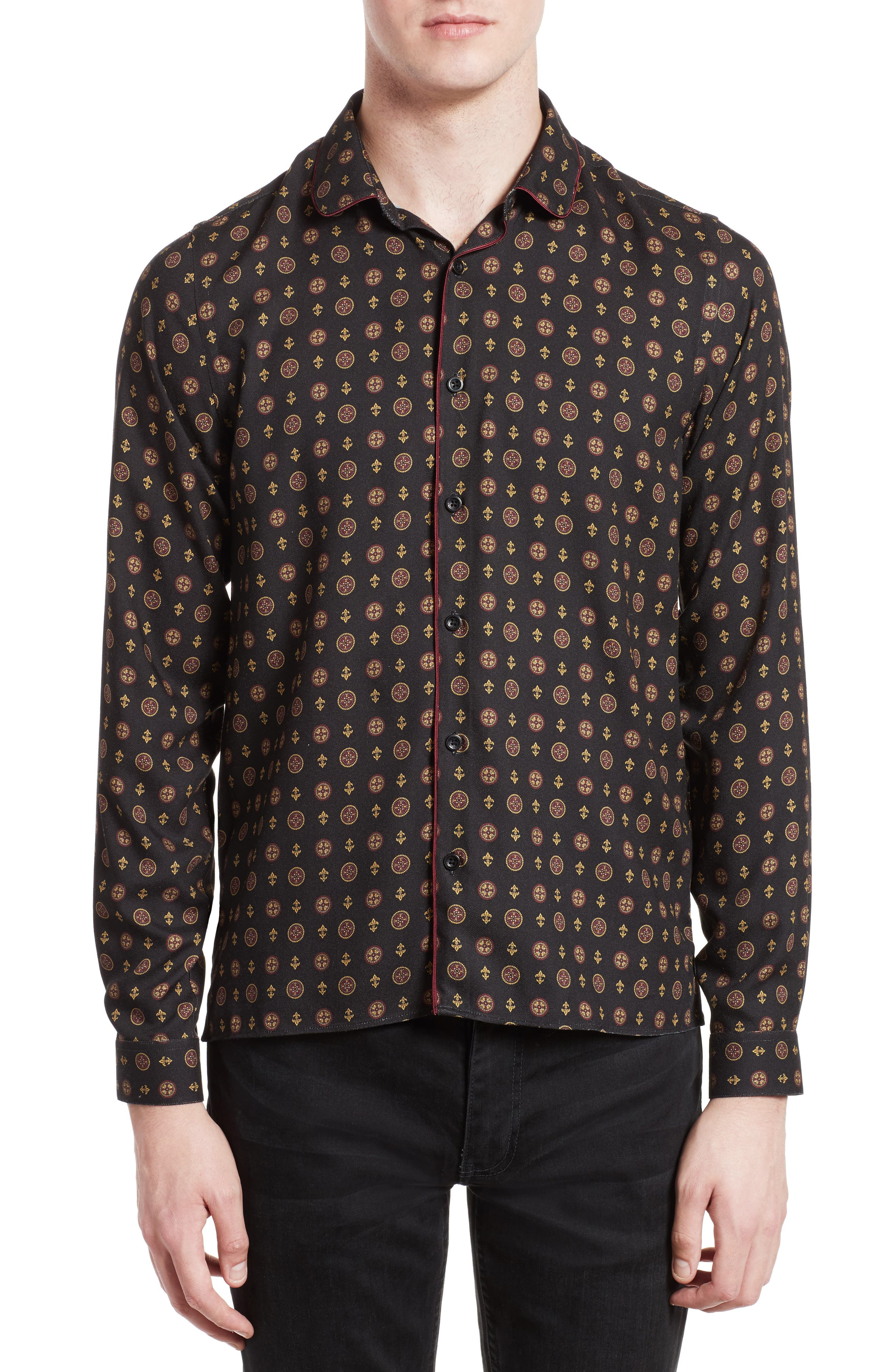 The Kooples Piped Print Sport Shirt