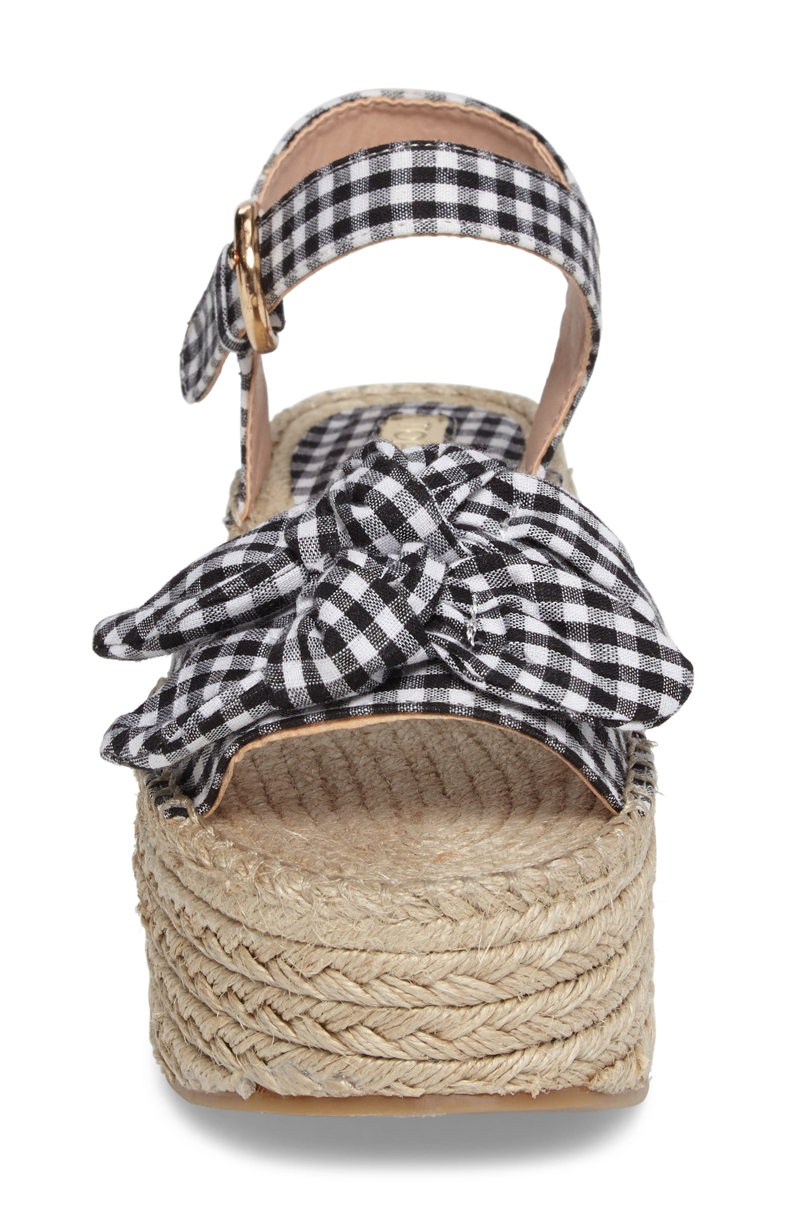Alternate Image 4  - Topshop Wendy Gingham Platform Sandal (Women)