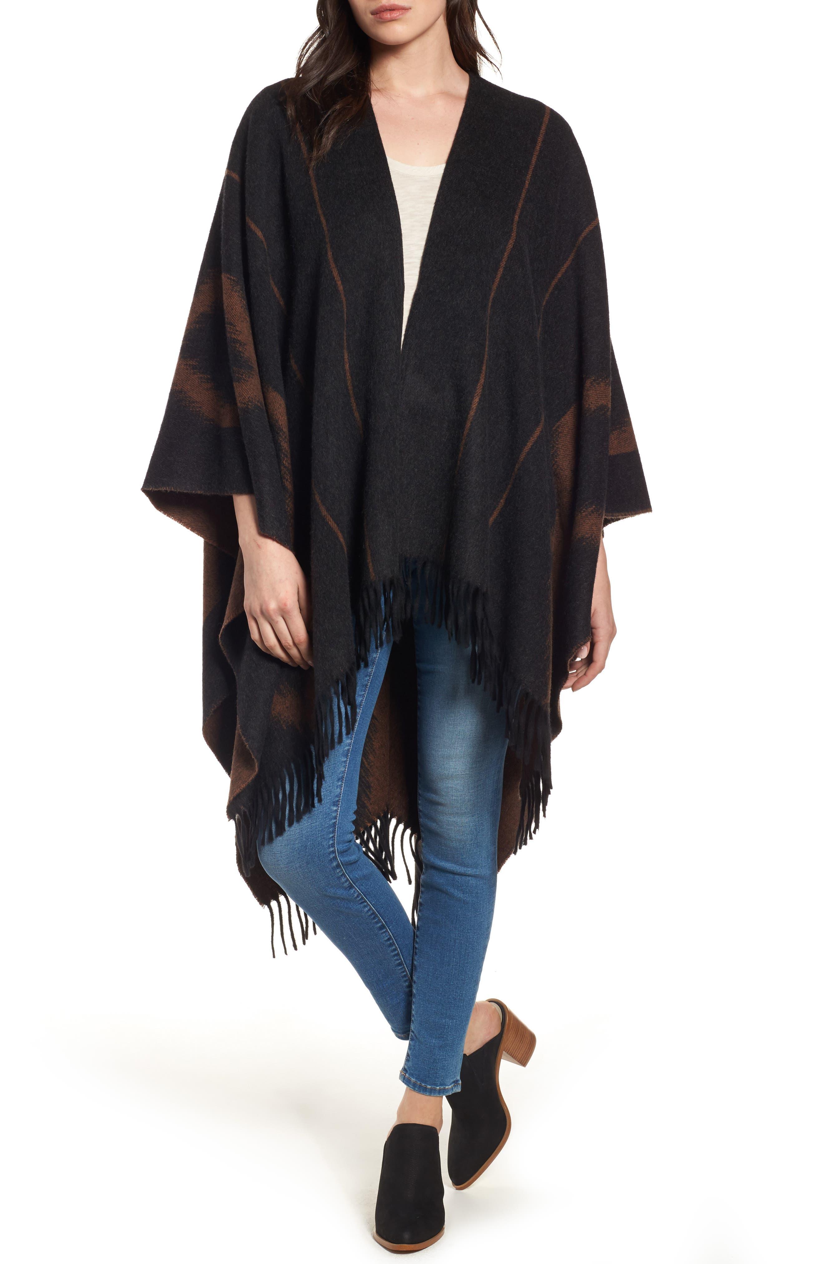 Frye Campus Wool Poncho (Nordstrom Exclusive)