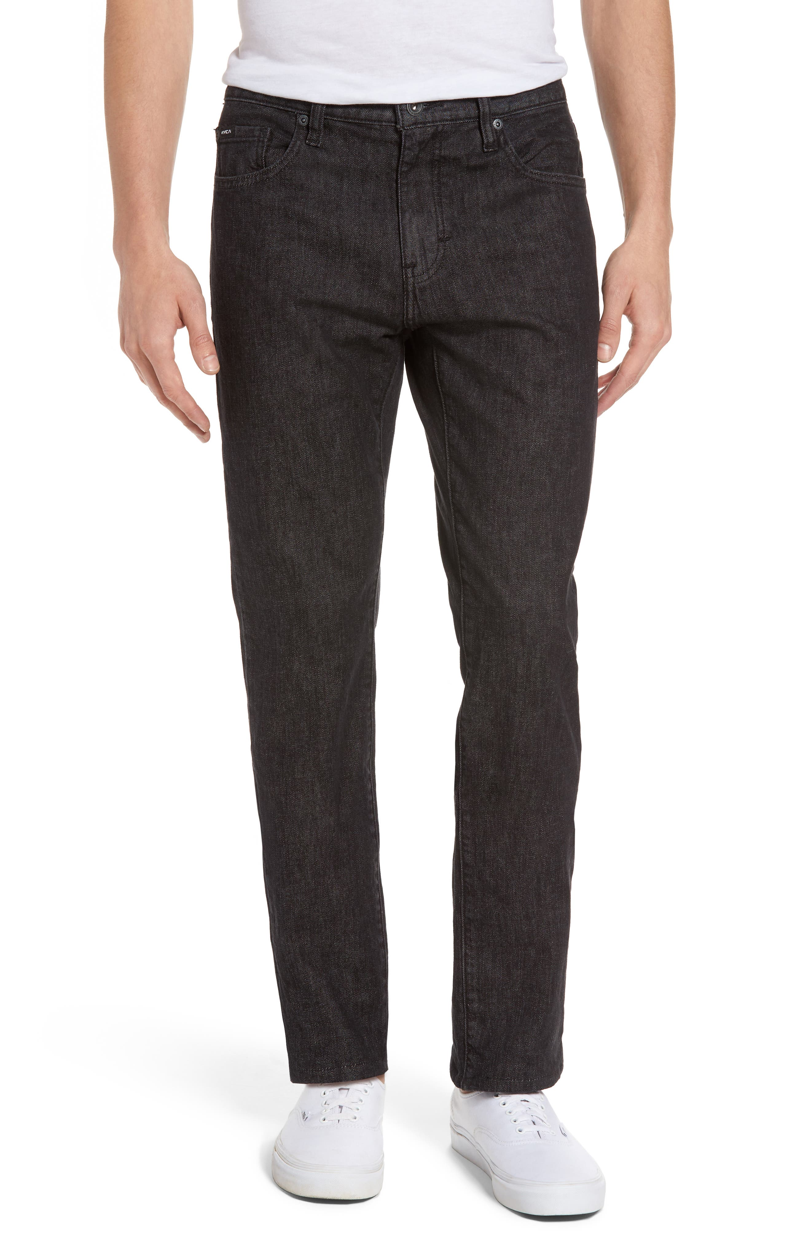 RVCA Daggers Slim Fit Jeans (Heritage Black) (Online Only)