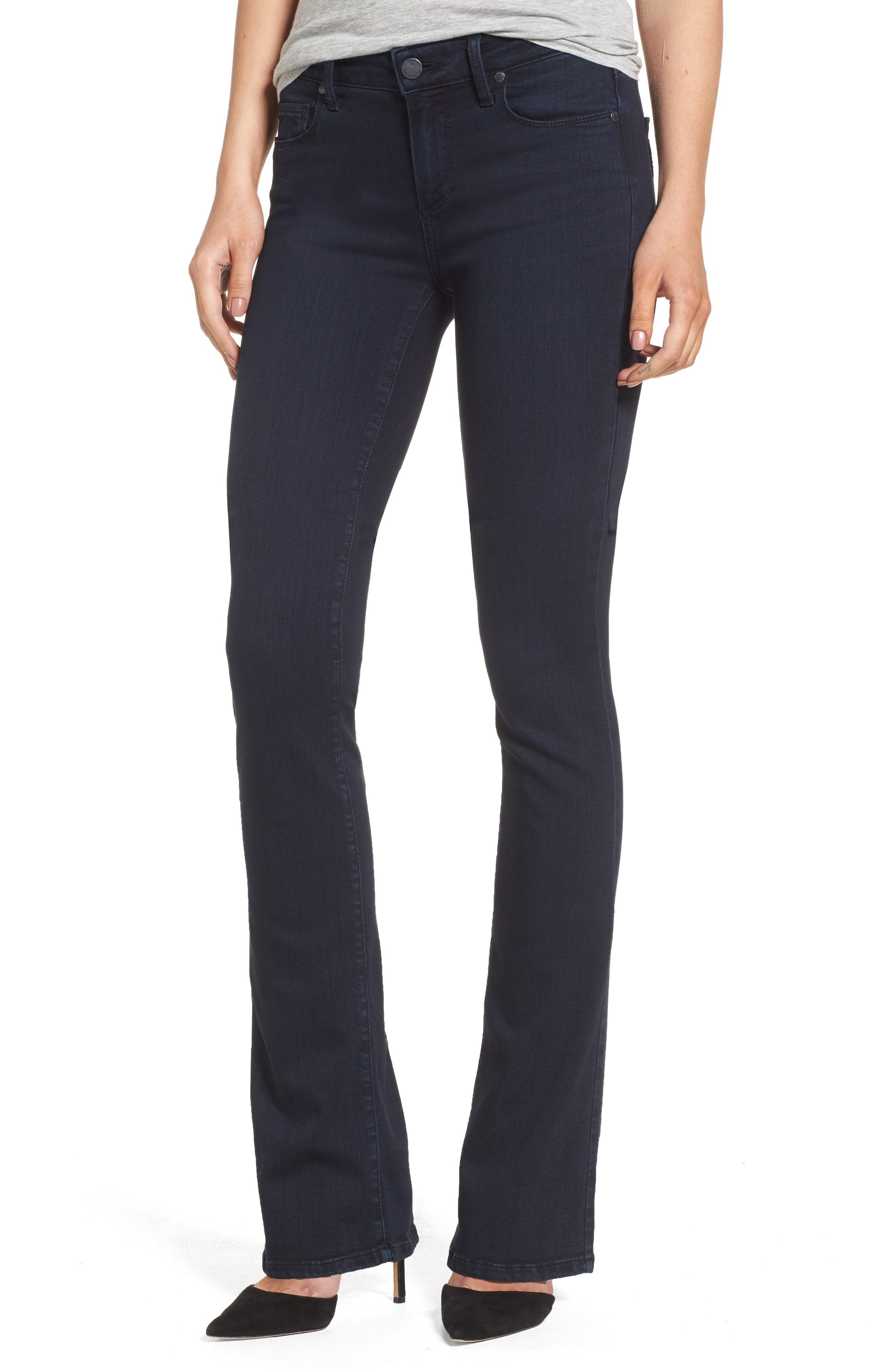 PAIGE Manhattan High Waist Bootcut Jeans (Brighton)