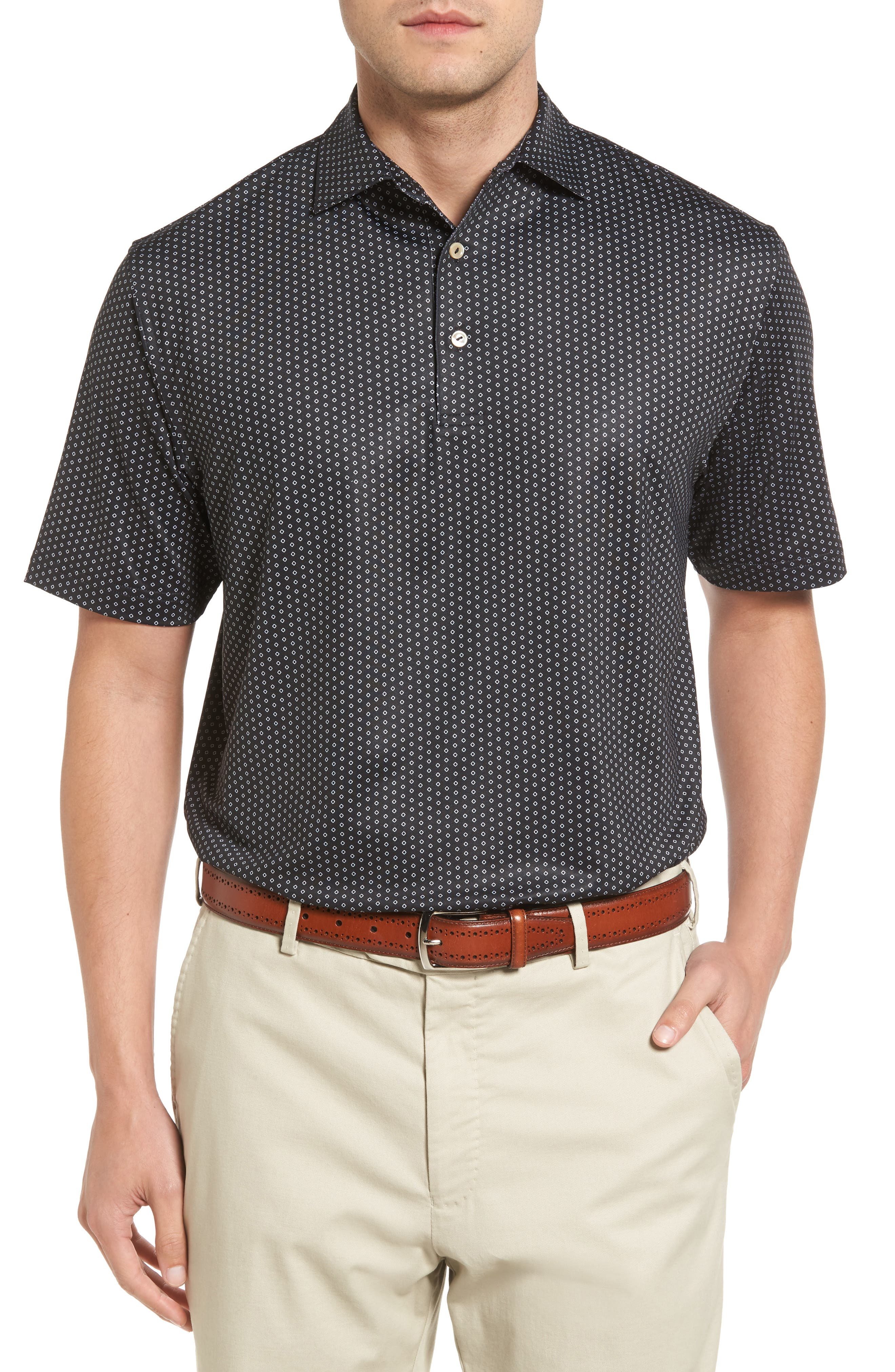 Peter Millar Staffordshire Print Jersey Polo