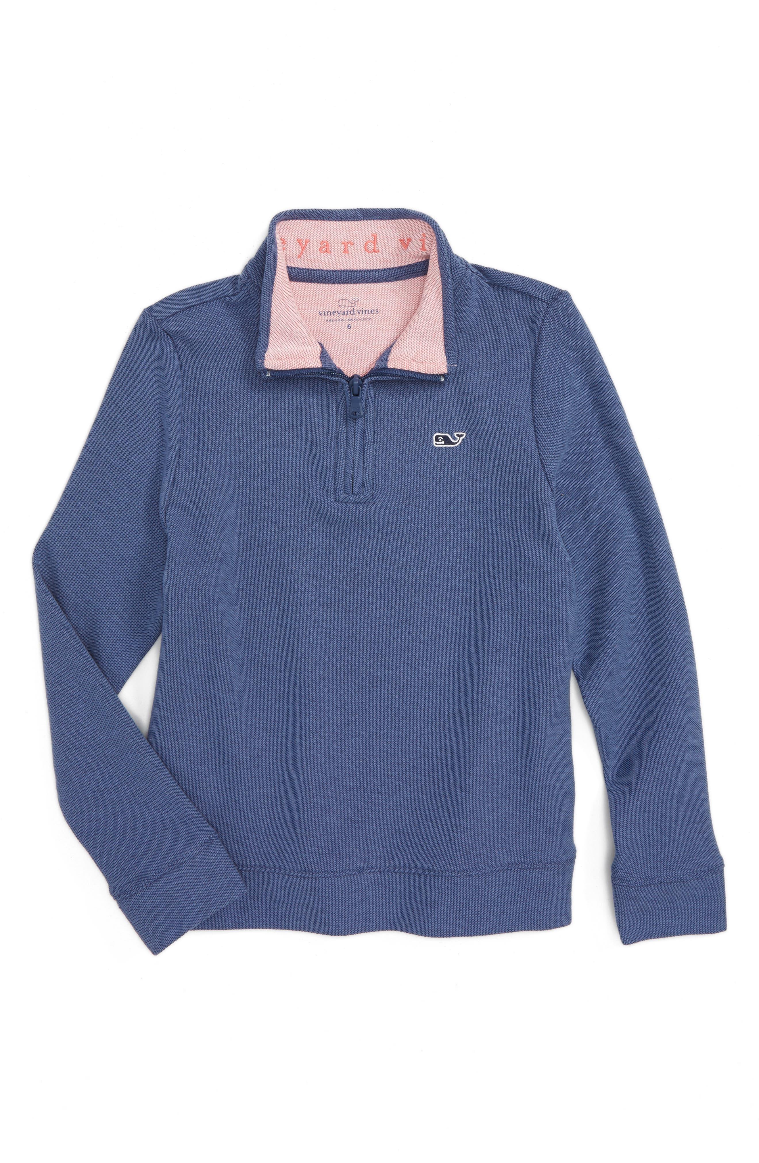 Vineyard Vines Quarter Zip Sweater (Toddler Boys & Little Boys)
