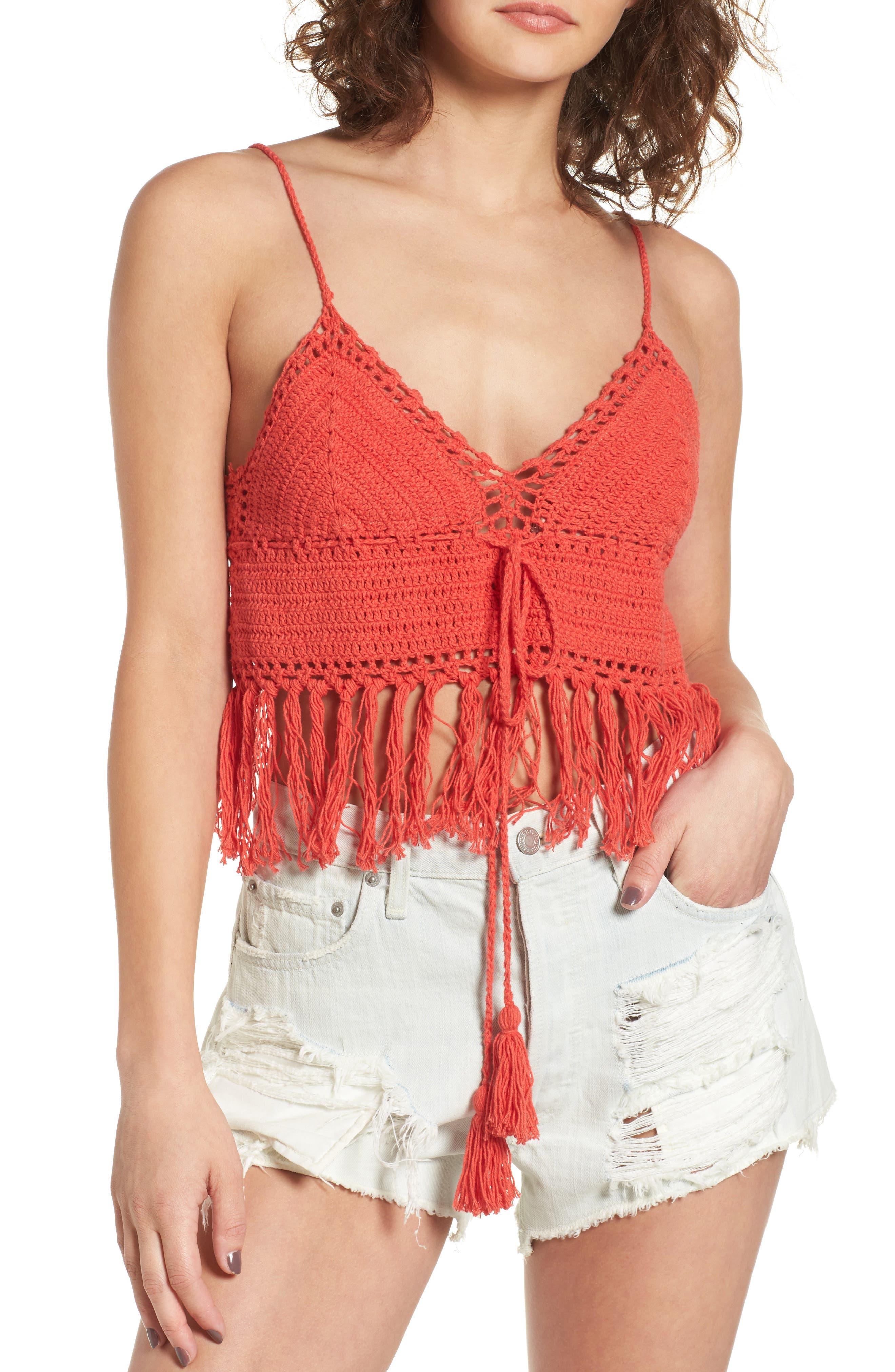 Soprano Crochet Bralette Top