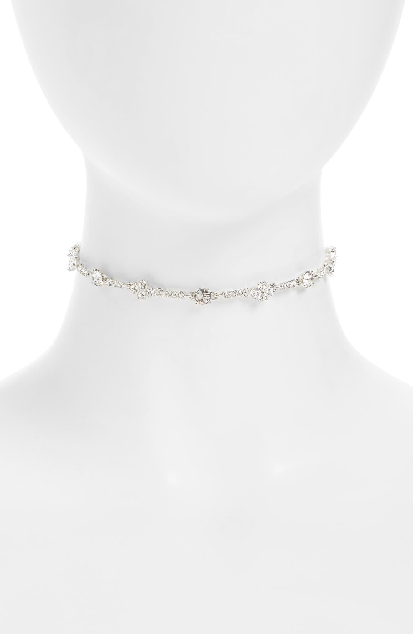 Givenchy Devon Crystal Choker Necklace