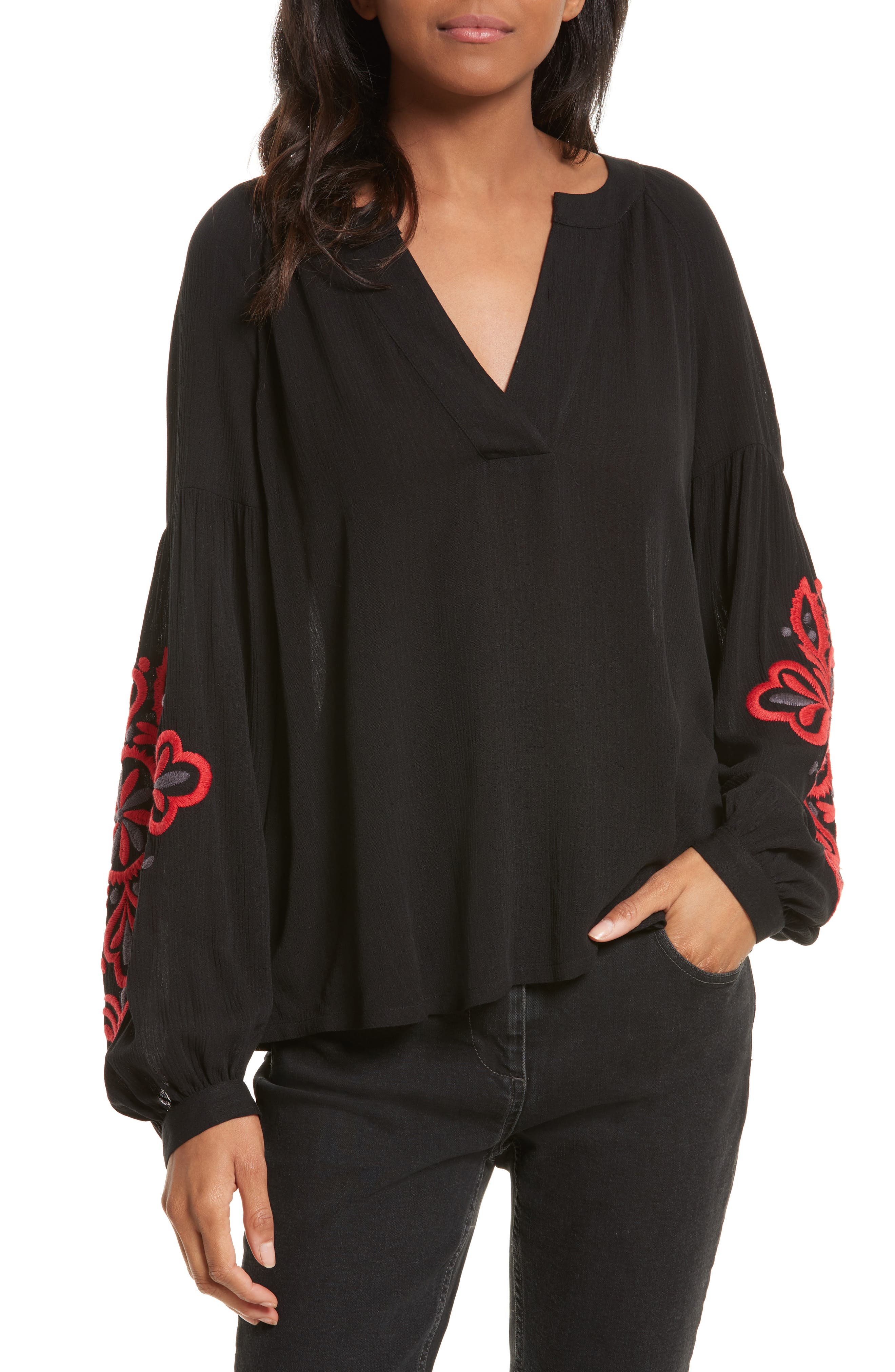 Rebecca Minkoff Bethany Embroidered Blouse