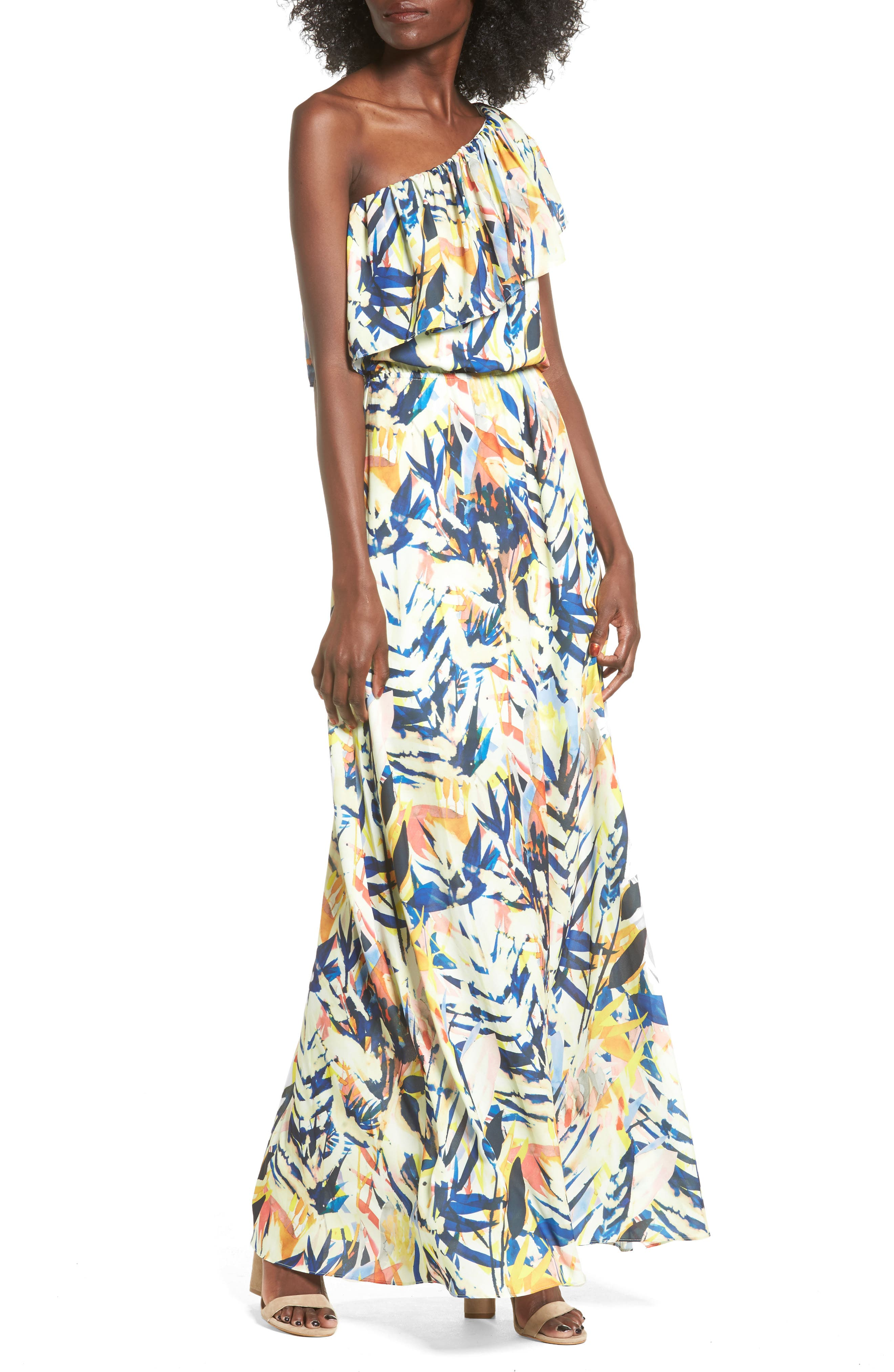 devlin Remy One-Shoulder Maxi Dress