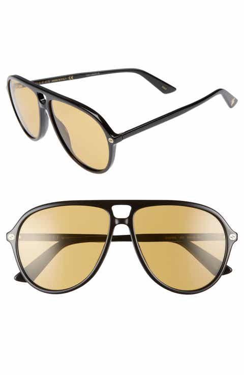 Gucci Pilot 59mm Polarized Sunglasses