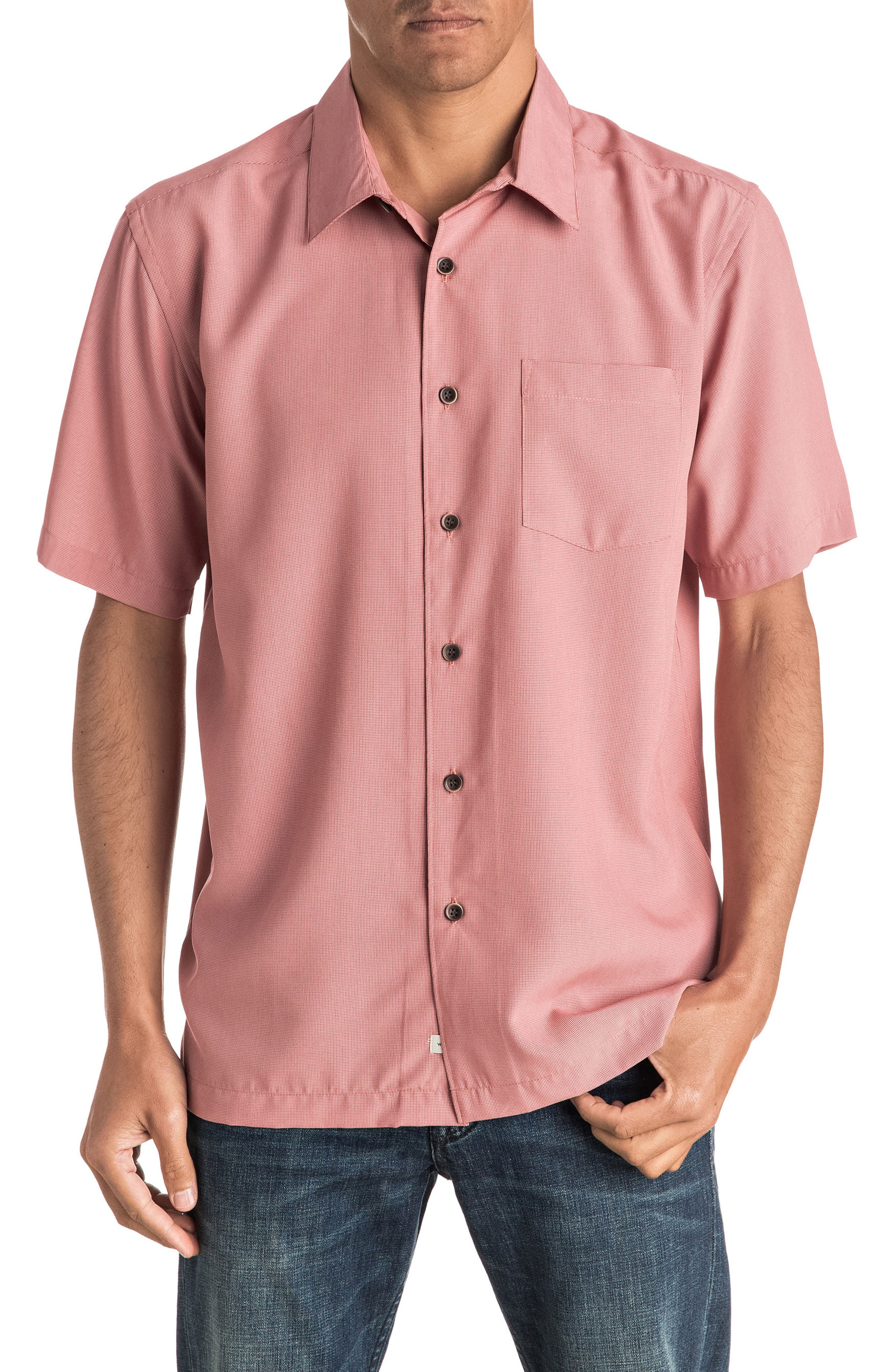 Quiksilver Waterman Collection 'Cane Island' Regular Fit Short Sleeve Sport Shirt