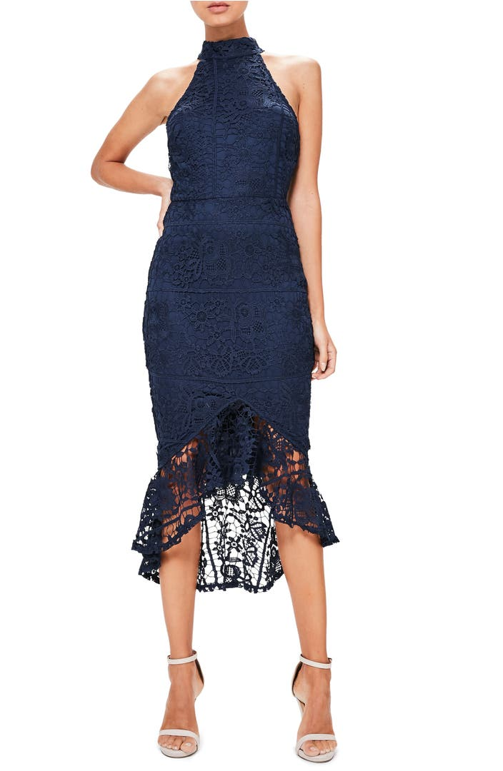 Missguided lace midi dress nordstrom for Shop wedding guest dresses