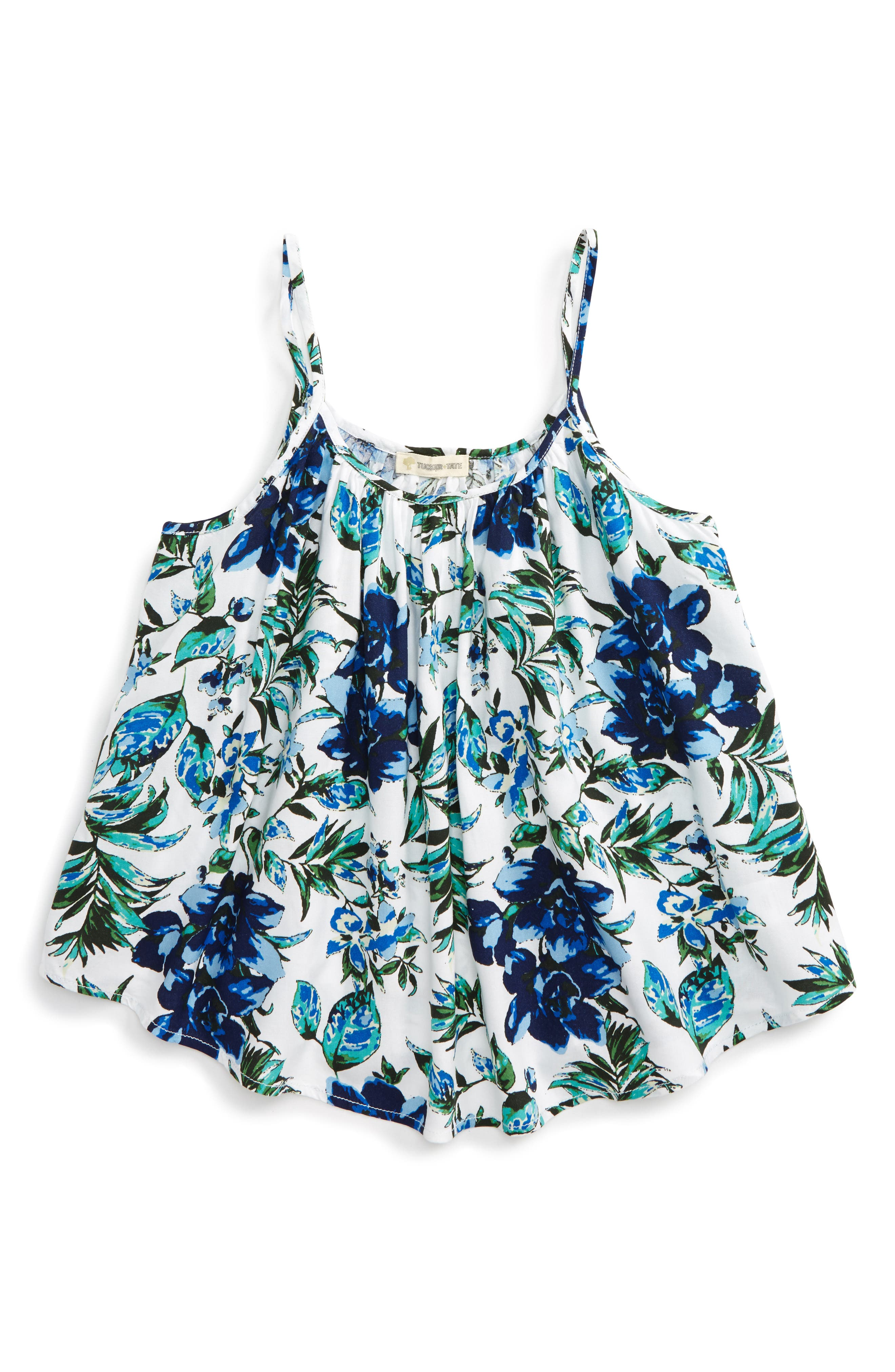 Tucker + Tate Floral Print Tank (Big Girls)