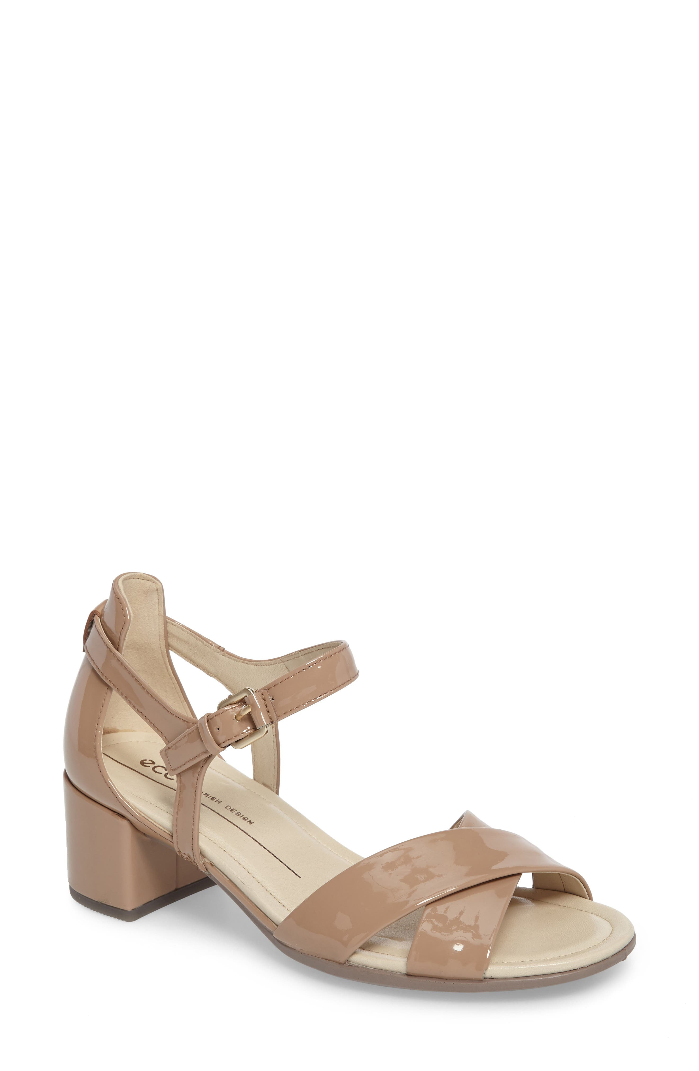 ECCO Shape Block Heel Sandal (Women)