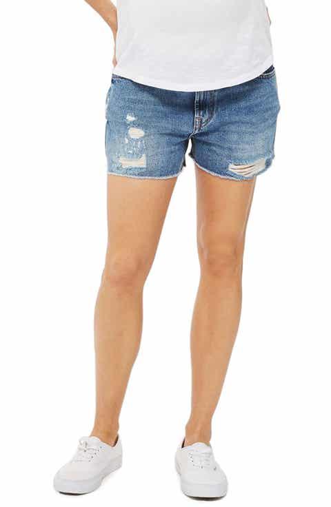 Topshop Ashley Ripped Maternity Shorts