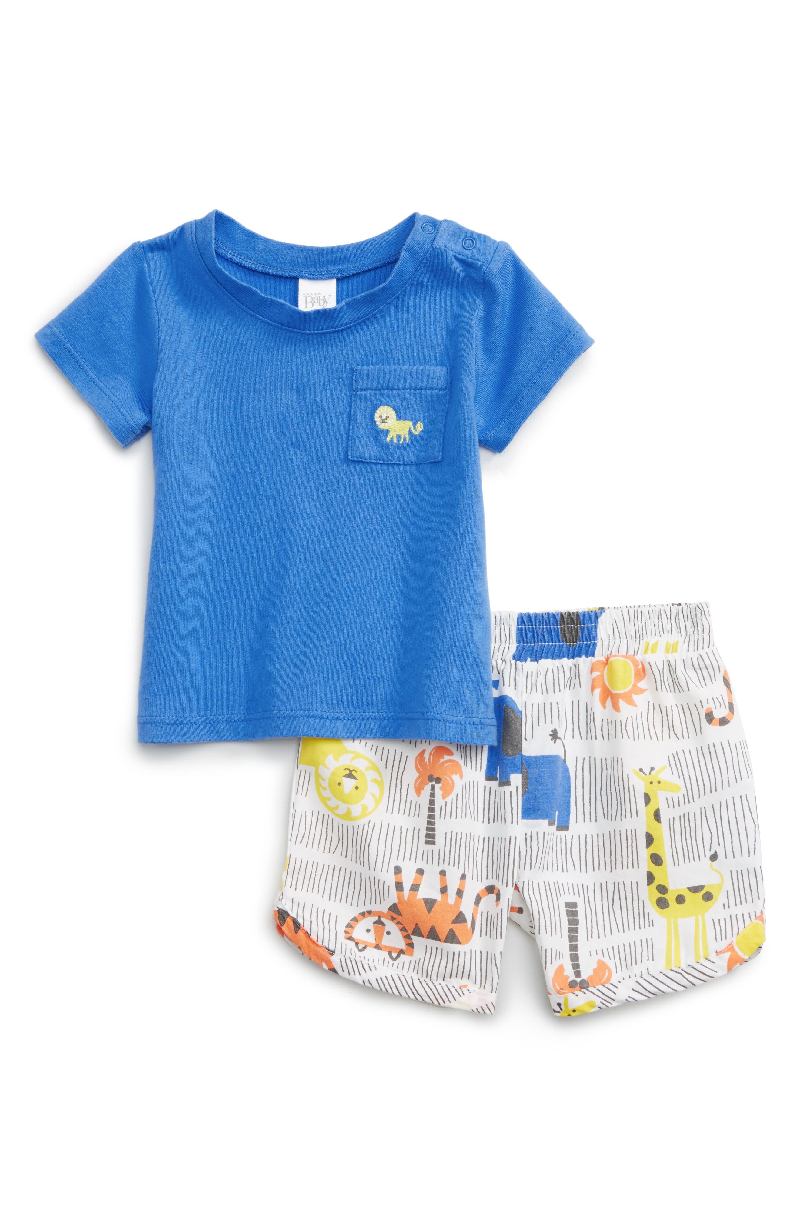 Nordstrom Baby T-Shirt & Print Shorts Set (Baby Boys)