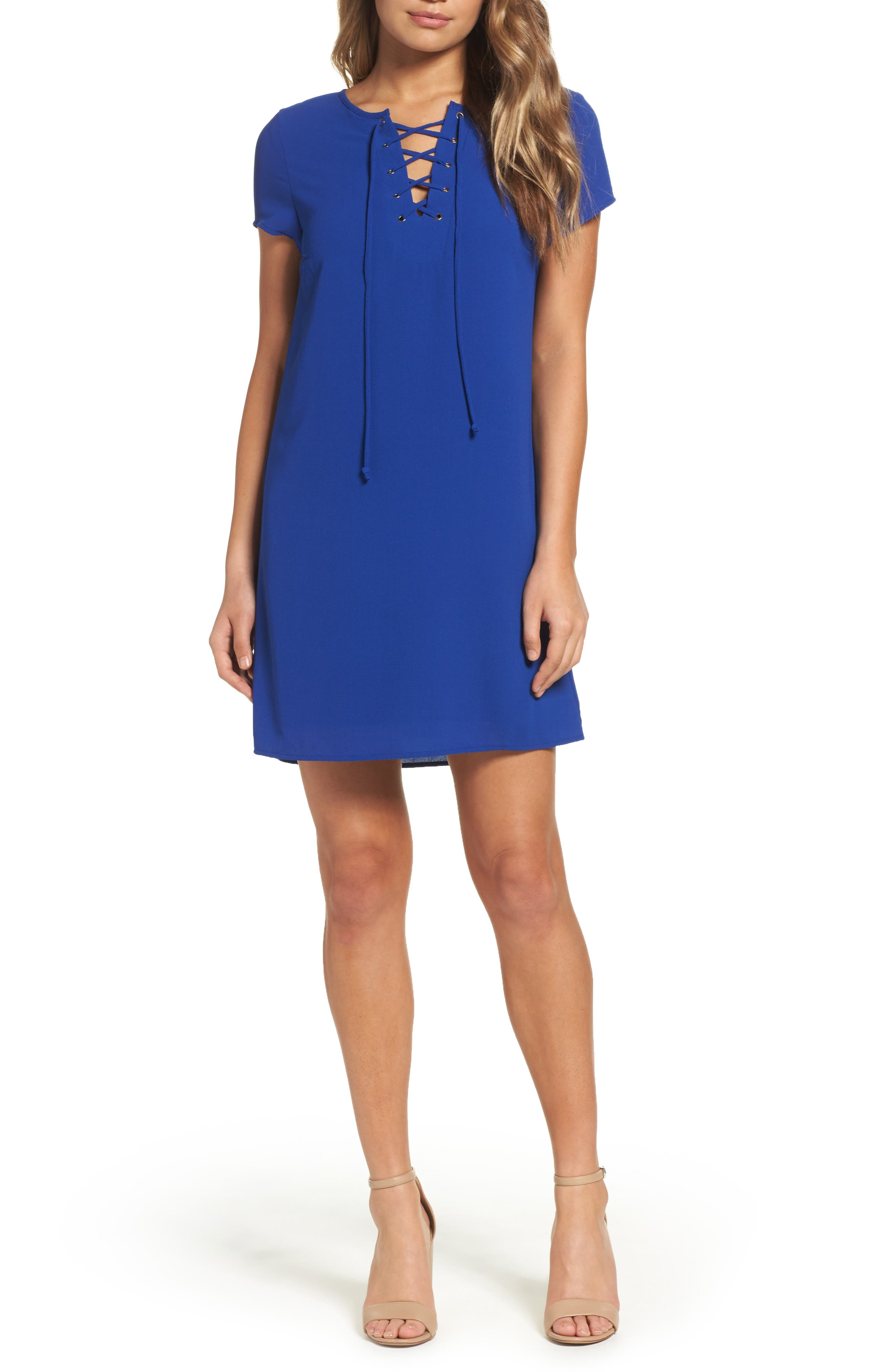 Mary & Mabel Tie Front Minidress