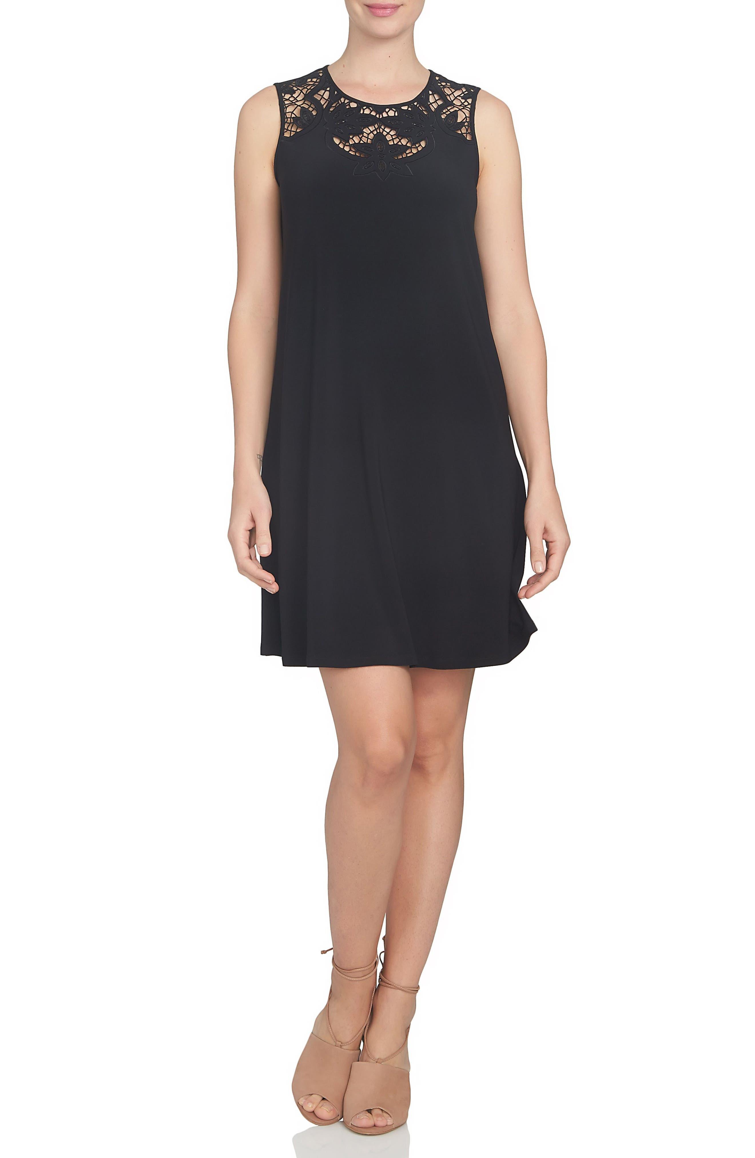 CeCe Cutout Yoke A-Line Shift Dress