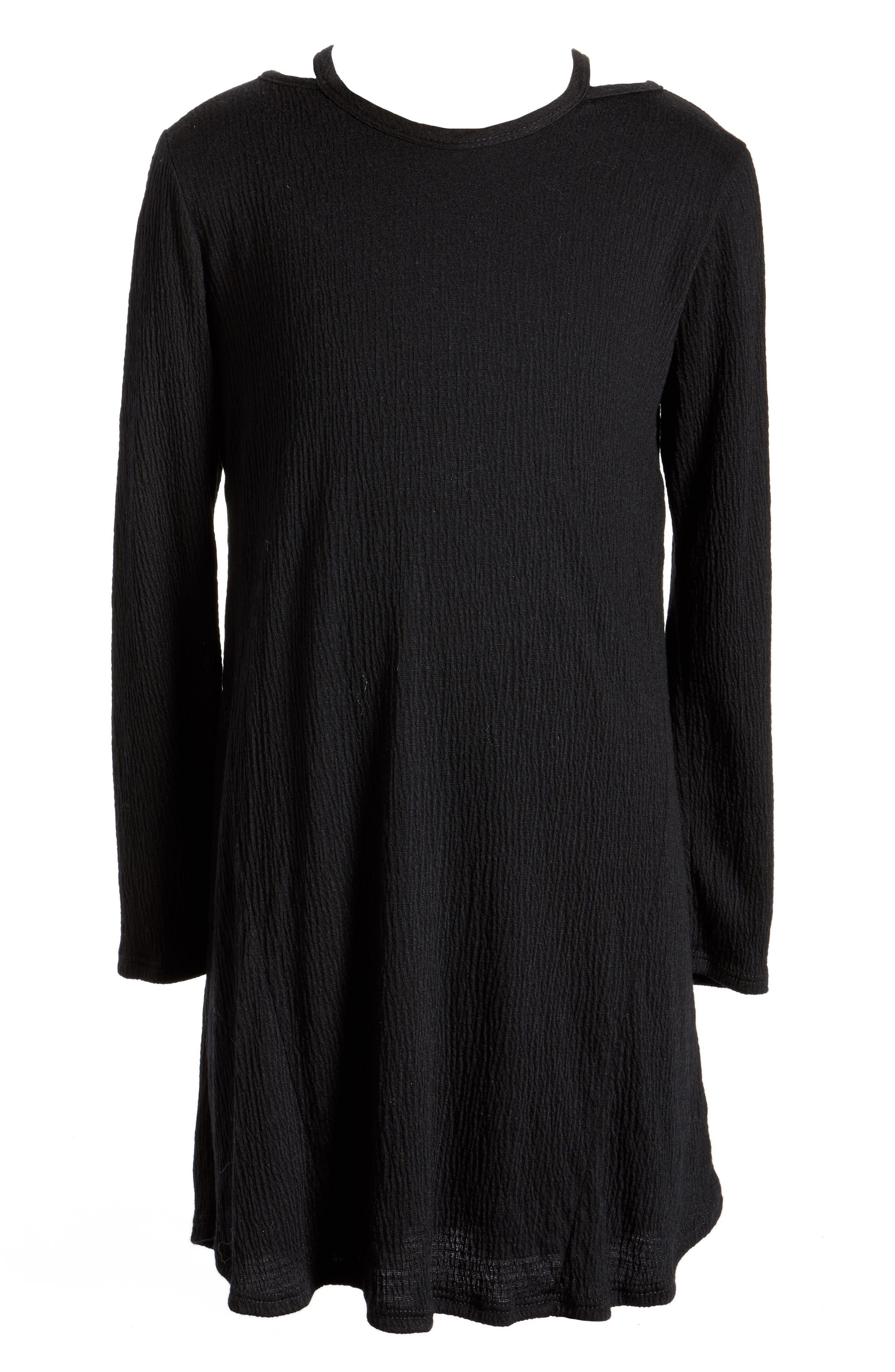 For All Seasons Cold Shoulder Dress (Big Girls)