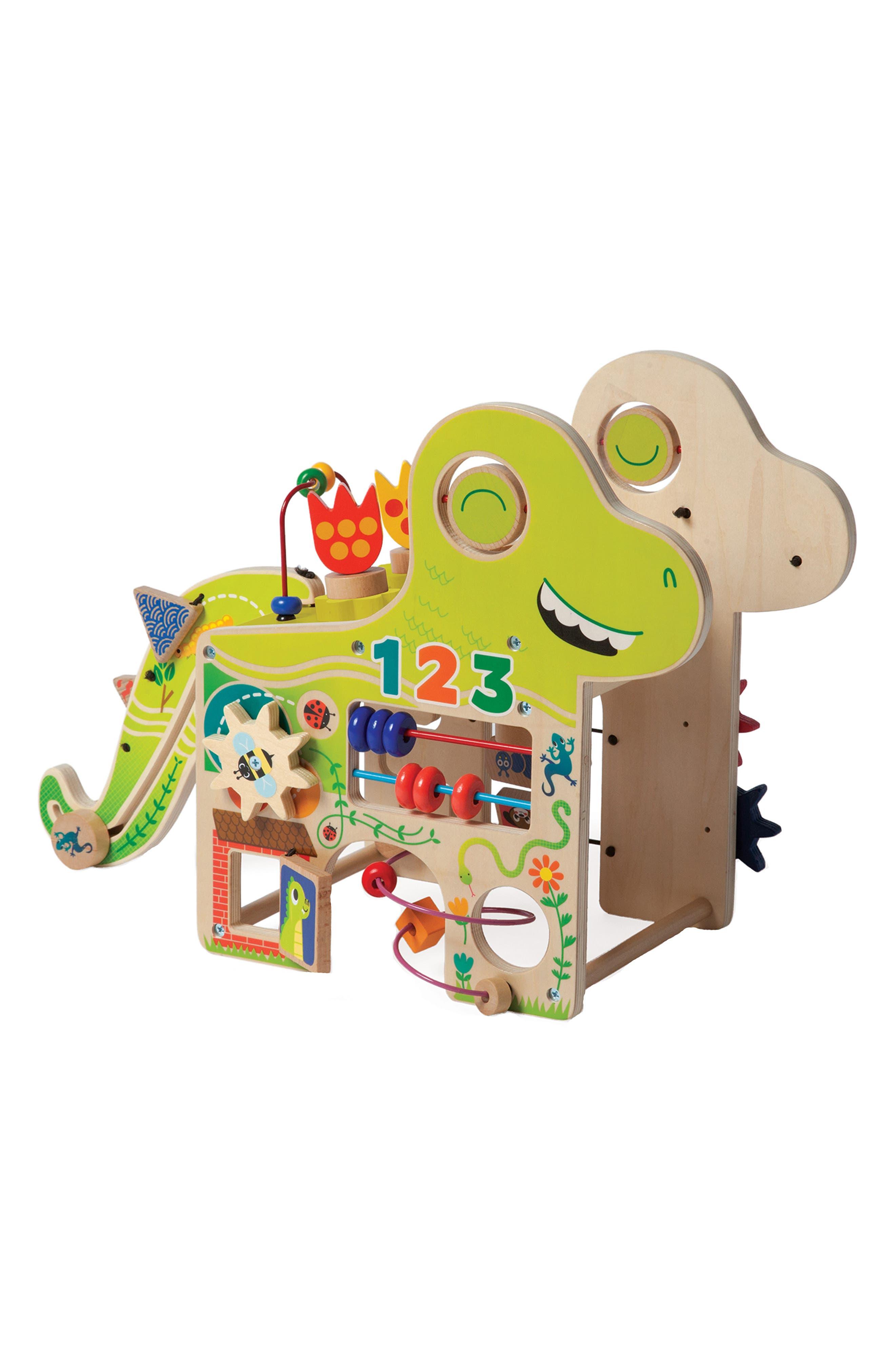 Manhattan Toy Wooden Playful Dino Activity Center