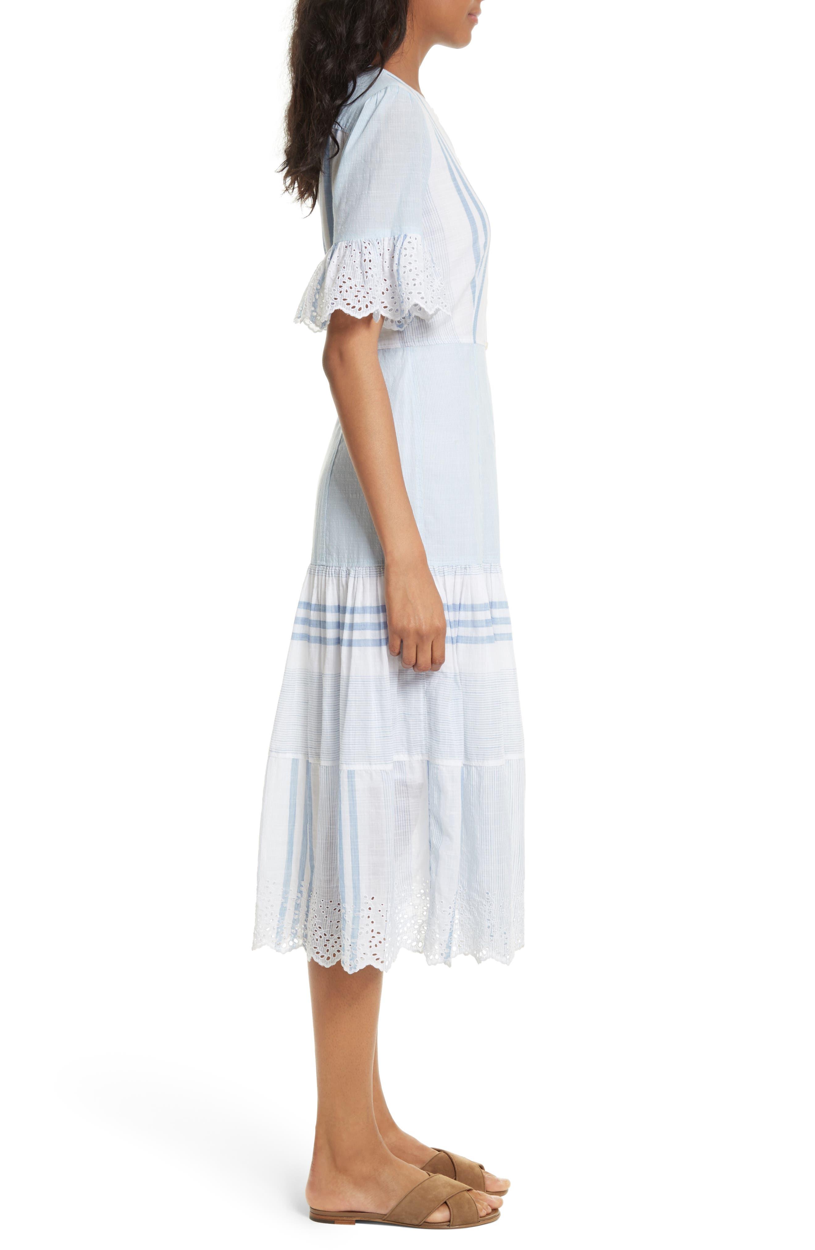 Alternate Image 3  - La Vie Rebecca Taylor Stripe Cotton Midi Dress