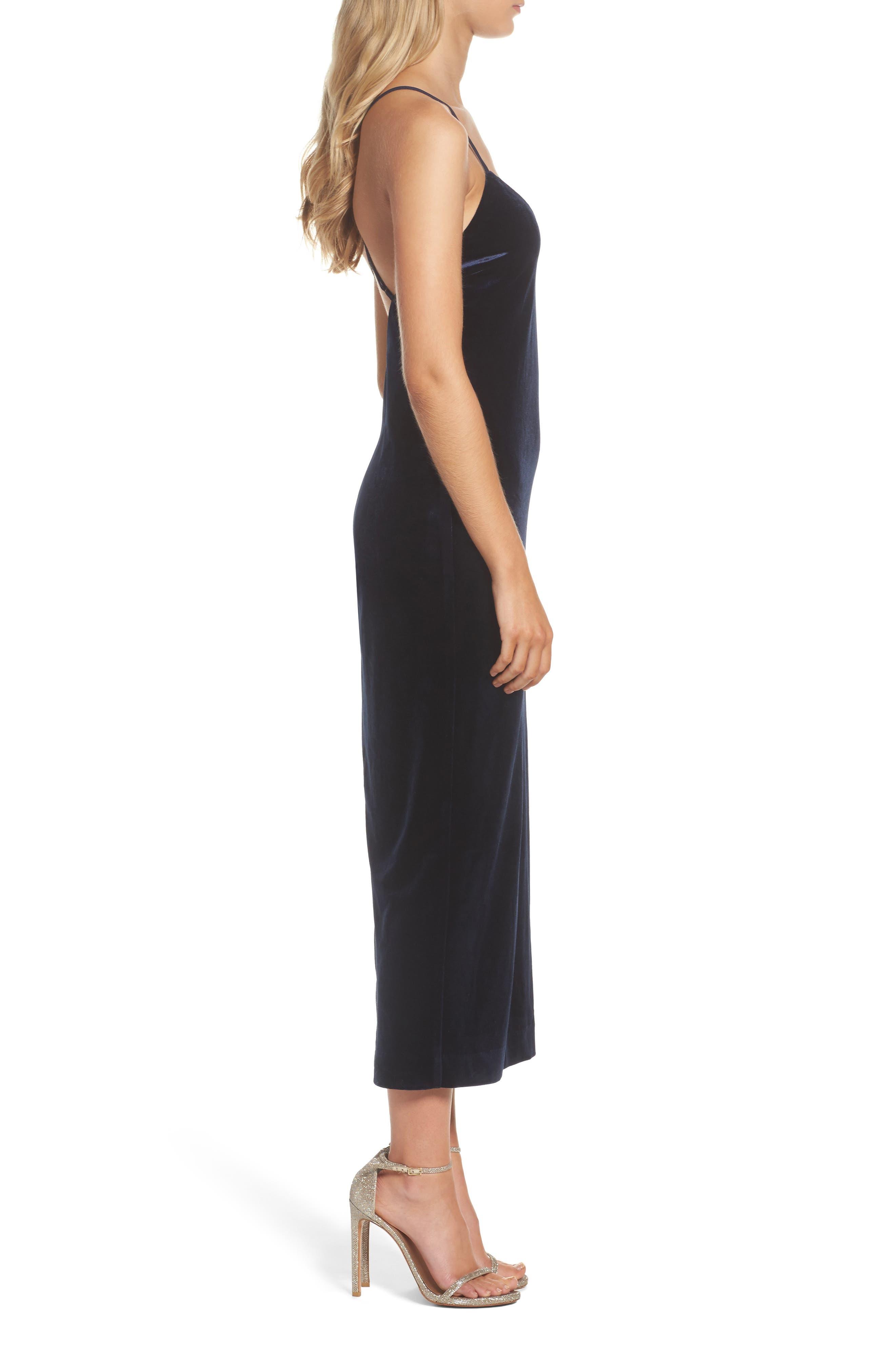 Alternate Image 3  - Bardot Raven Velvet Slipdress