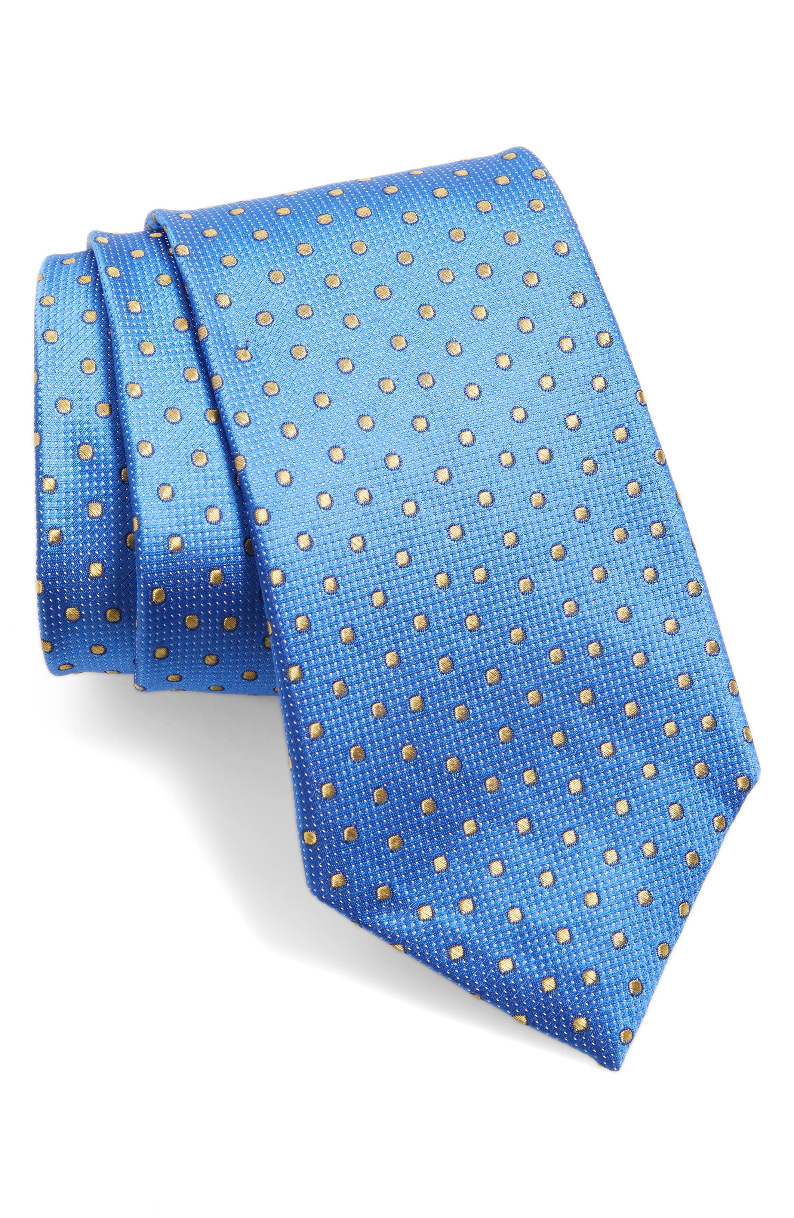 Nordstrom Men's Shop Dot Silk Tie (X-Long)
