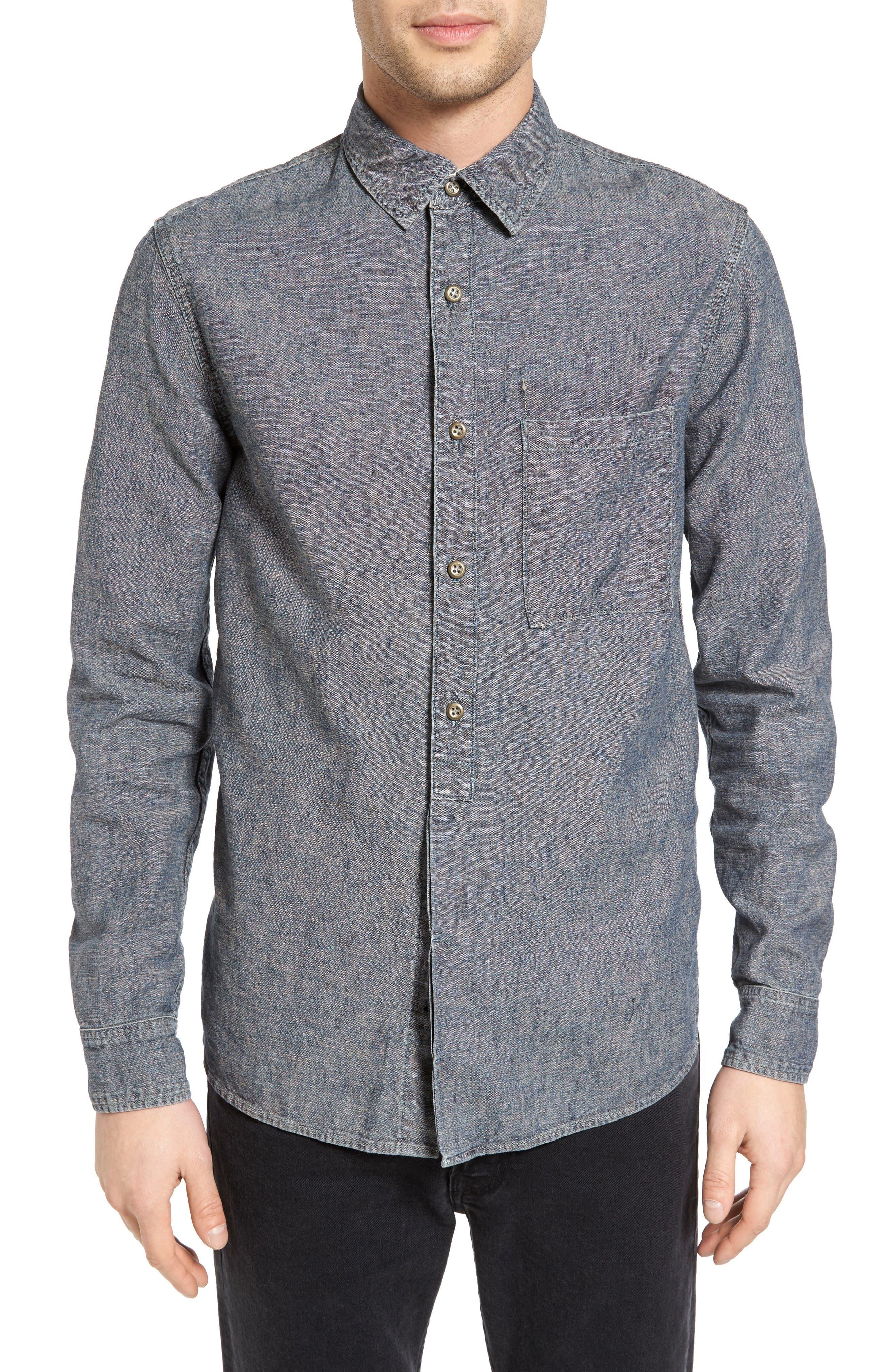 Current/Elliott Slim Fit Linen & Cotton Sport Shirt