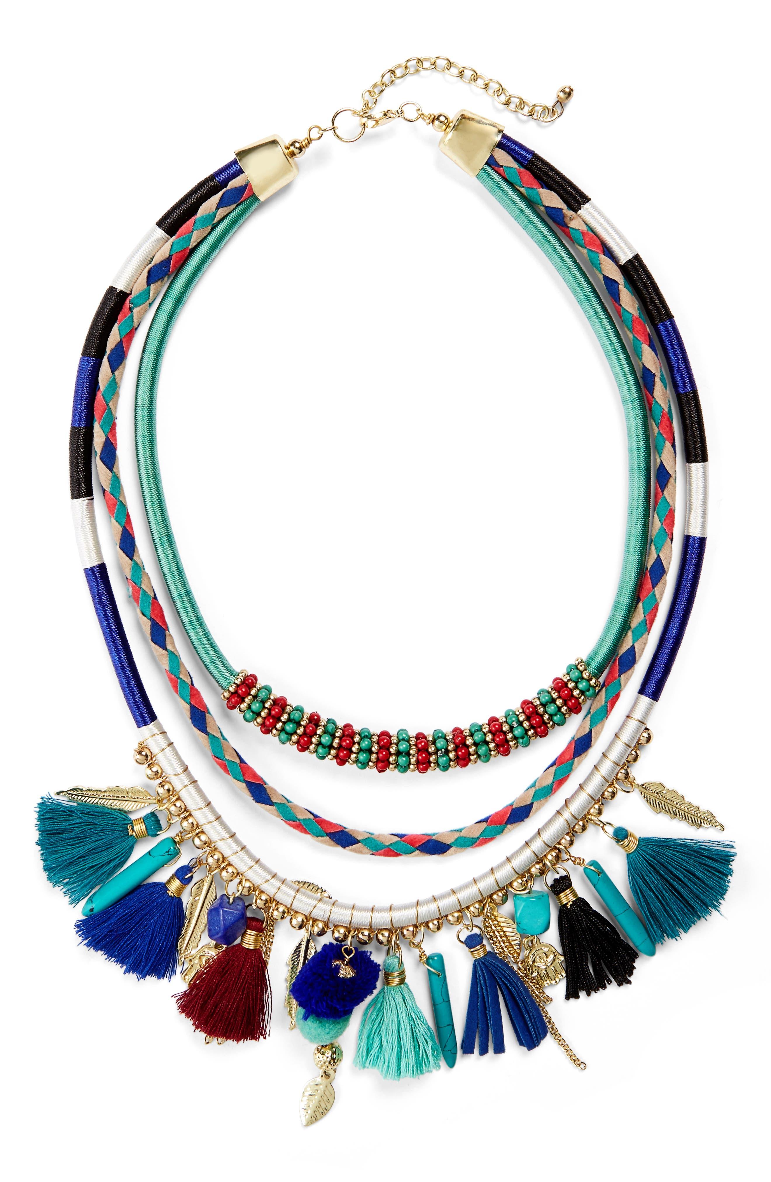 Panacea Multistrand Tassel Necklace