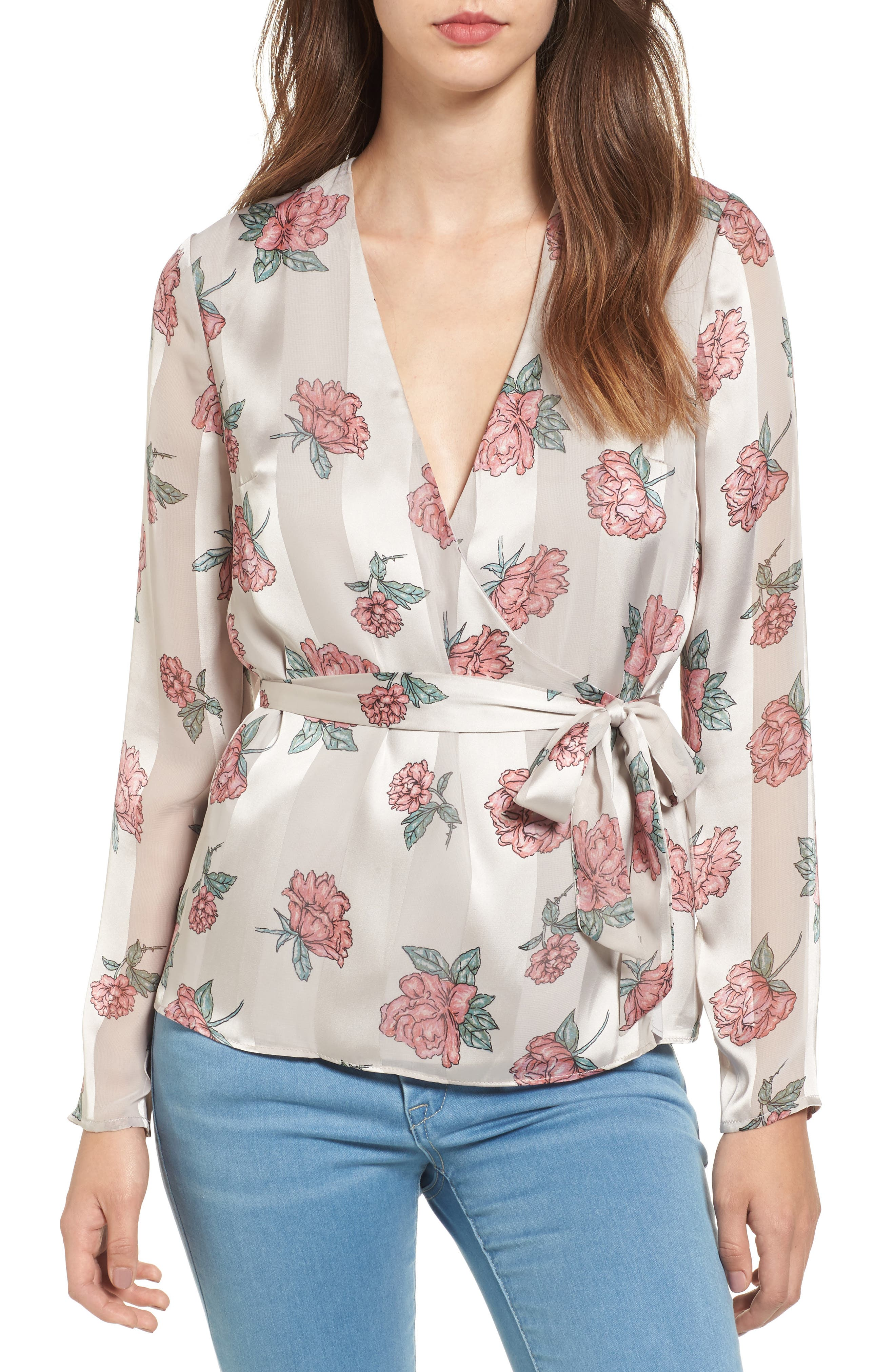 Lovers + Friends Northwest Faux Wrap Top