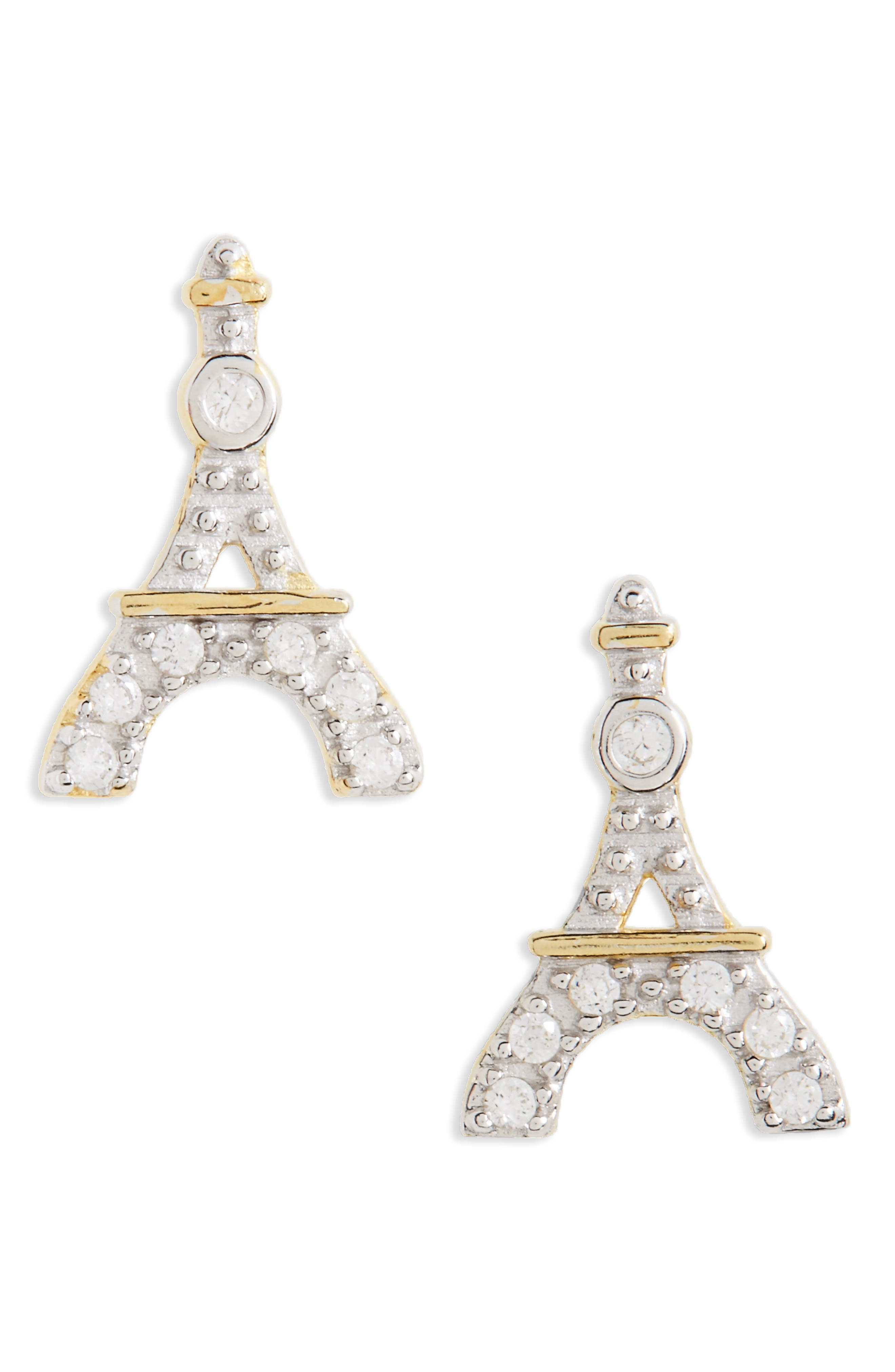 Tomas Eiffel Tower Stud Earrings (Girls)