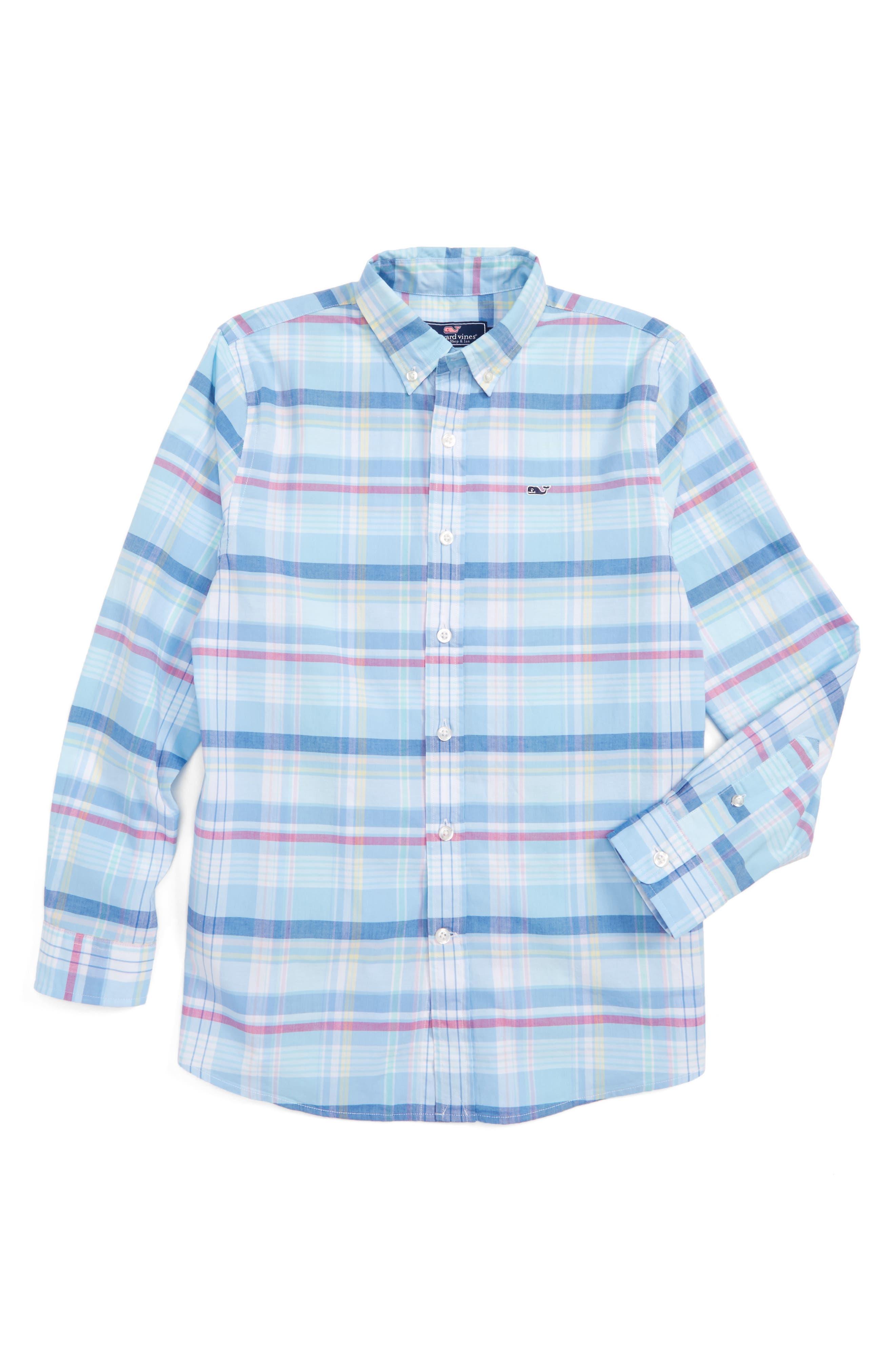 Vineyard Vines Cedar Point Plaid Whale Shirt (Toddler Boys, Little Boys & Big Boys)