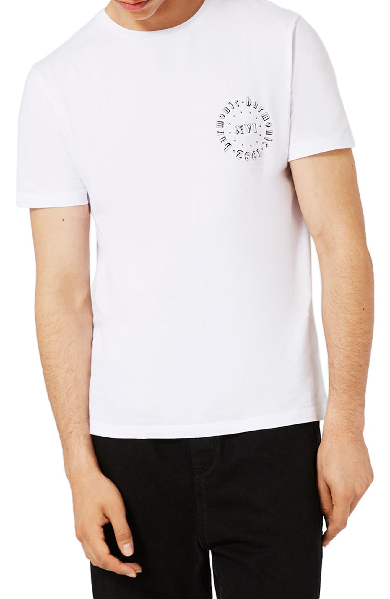 Topman Slim Fit Harmonic Print T-Shirt