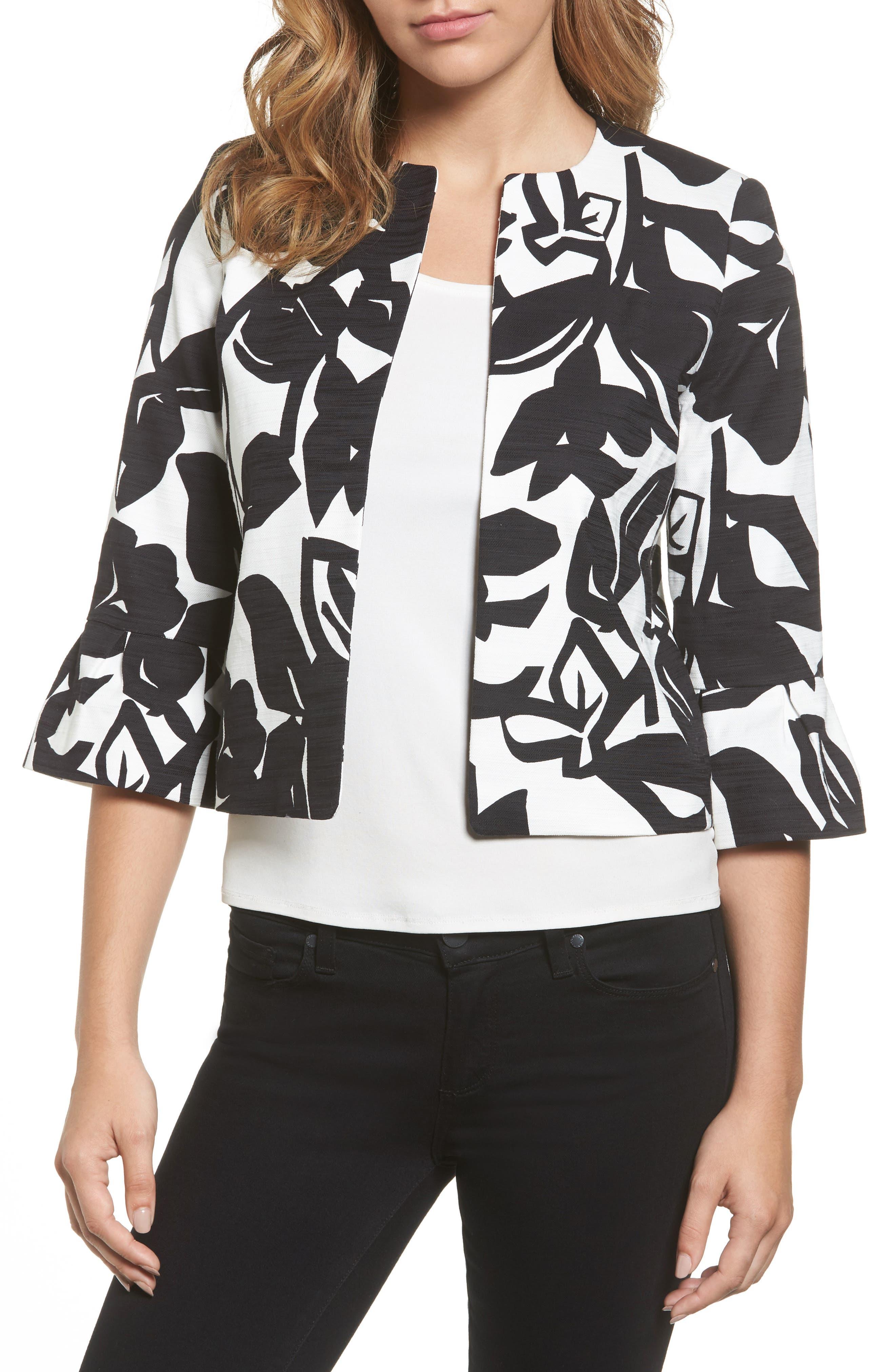 Halogen® Bell Sleeve Jacket (Regular & Petite)