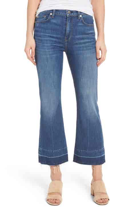 7 For All Mankind® Ali Split Hem Crop Flare Jeans (Sunrise)