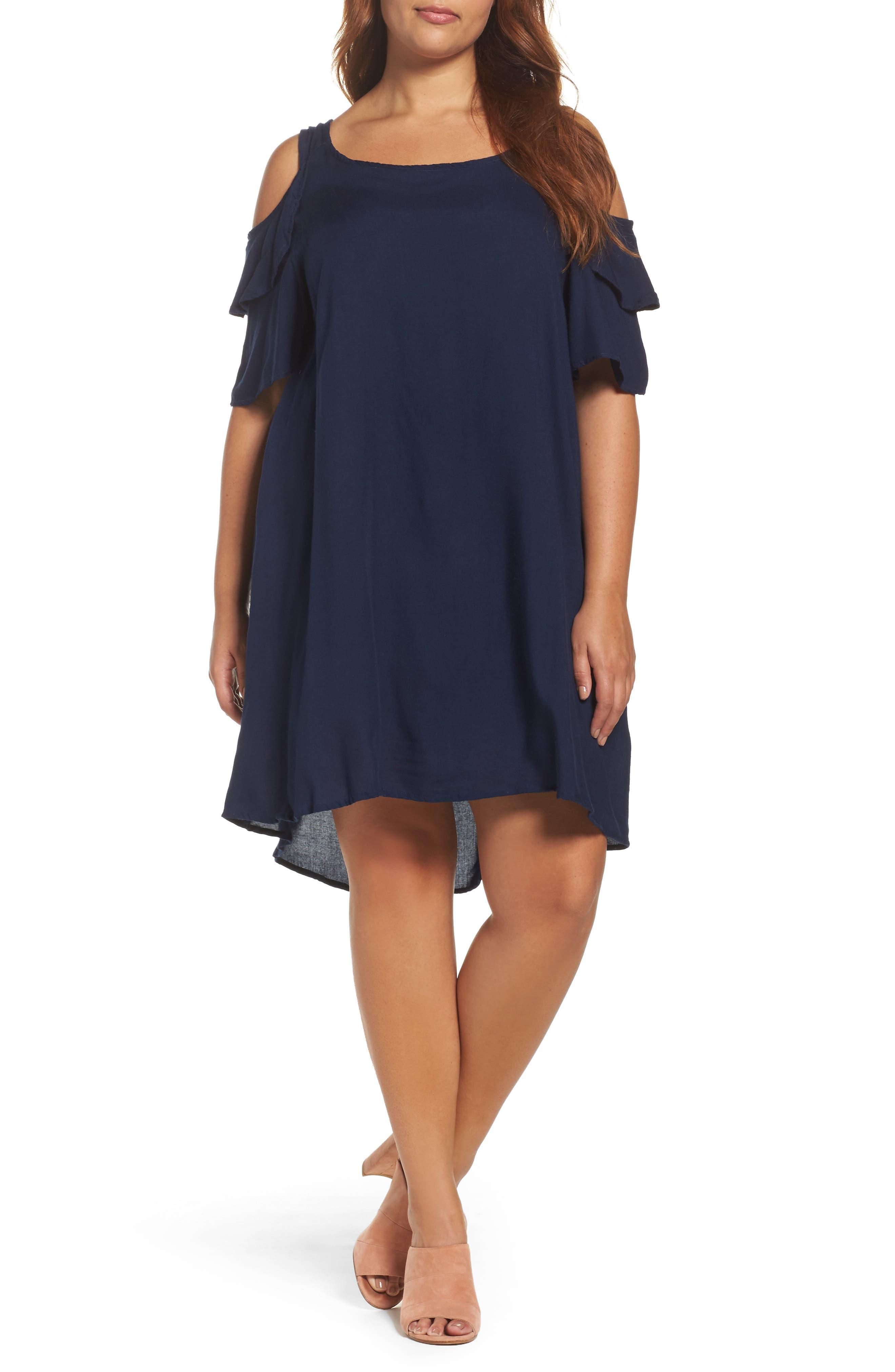 Glamorous Cold Shoulder Shift Dress (Plus Size)
