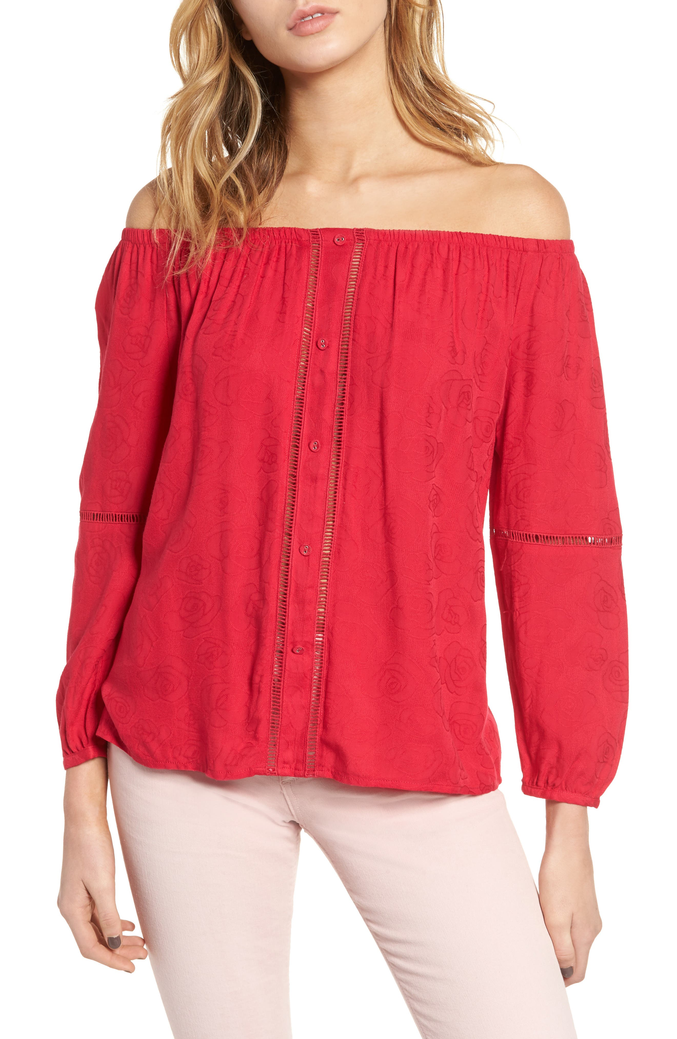 cupcakes and cashmere Havyn Off-the-Shoulder Top