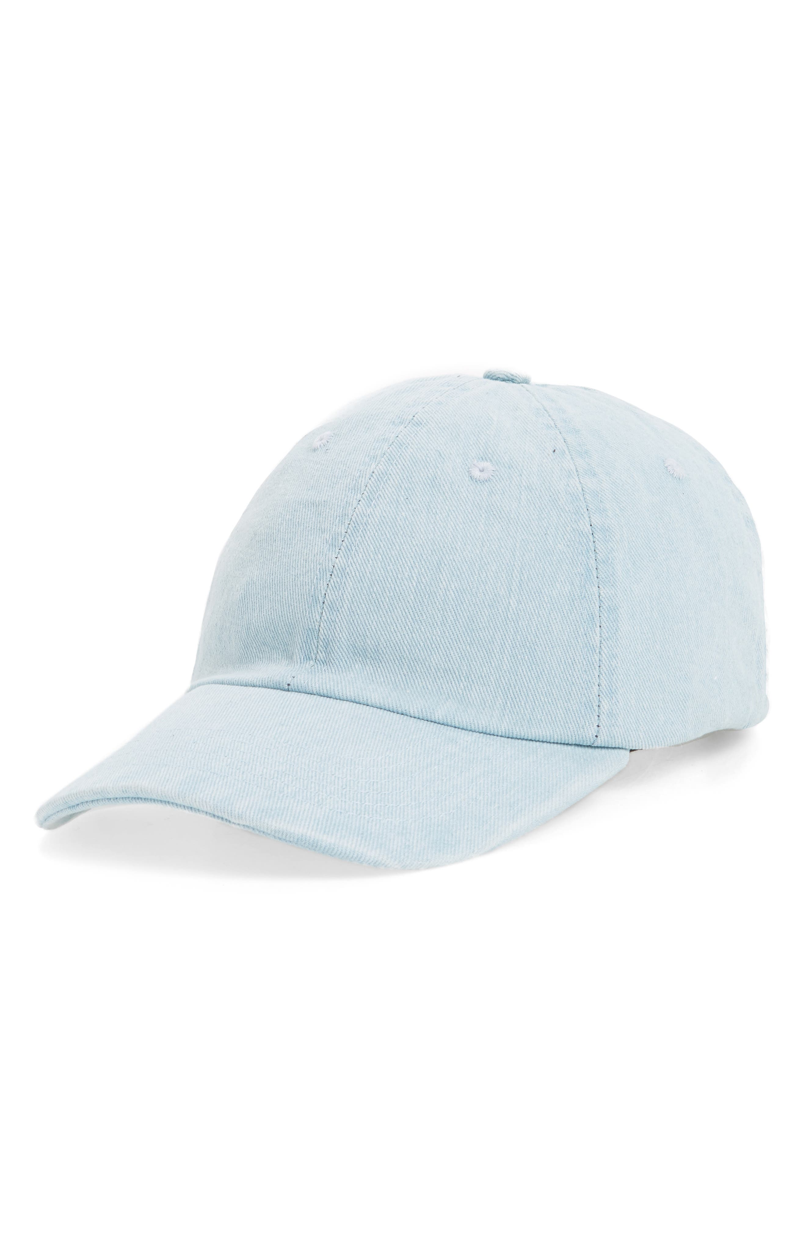 Topshop Denim Baseball Cap
