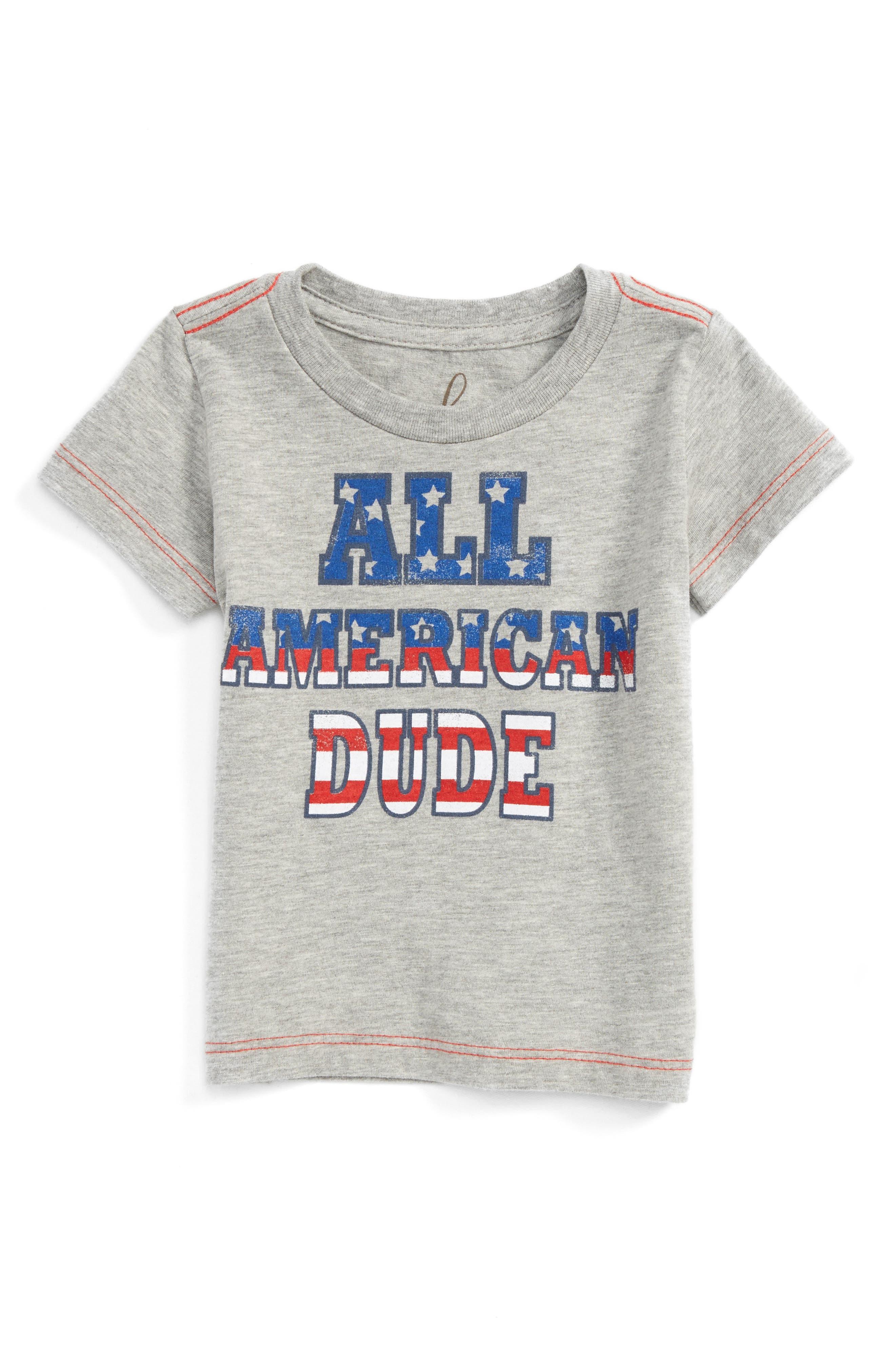 Peek All American Dude T-Shirt (Baby Boys)