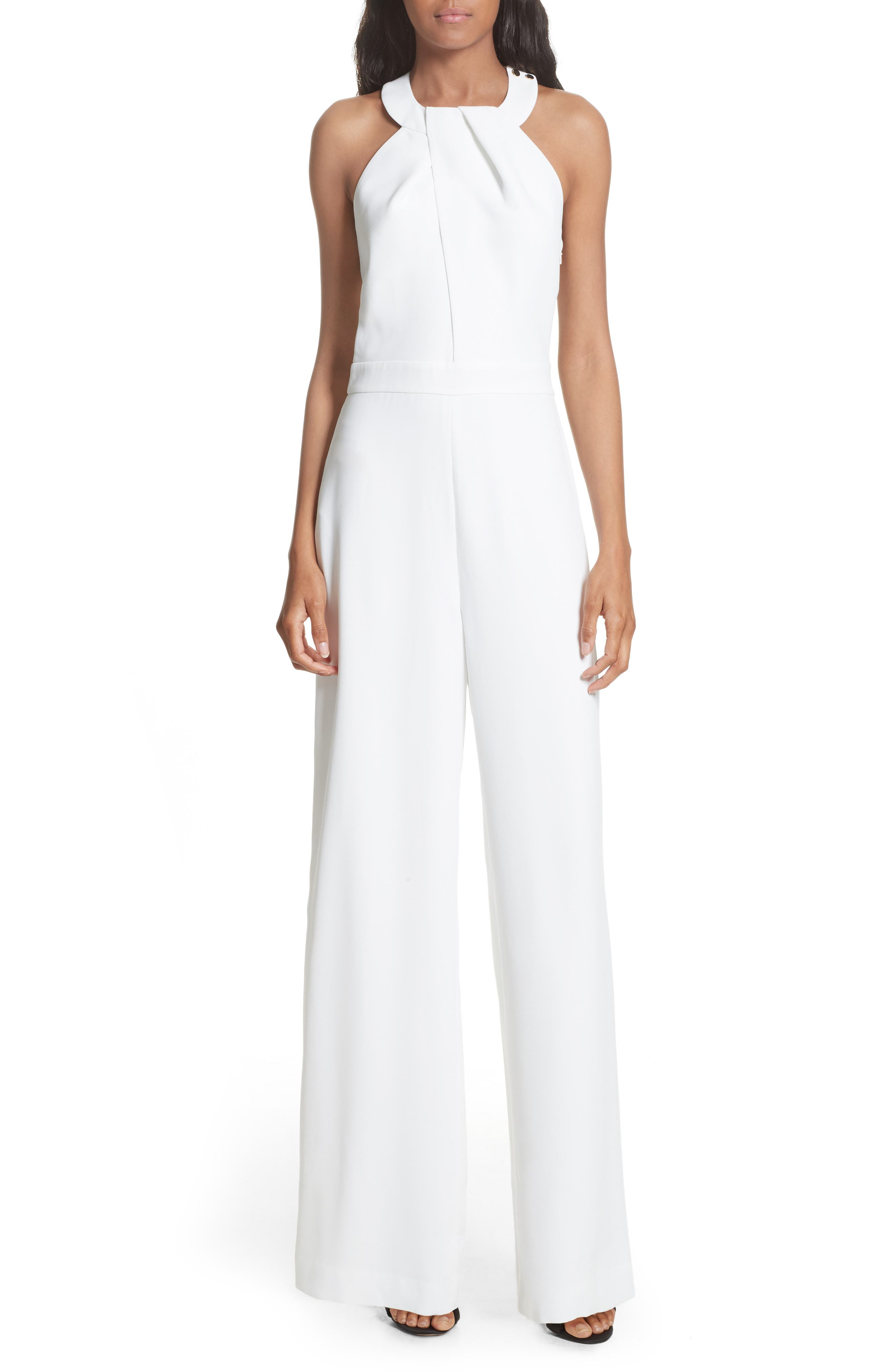 Ted Baker London Tiilish Twist Neck Jumpsuit