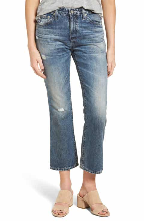 AG The Jodi High Waist Crop Flare Jeans (23 Years Wind Worn) - Flare High-Waisted Jeans For Women Nordstrom