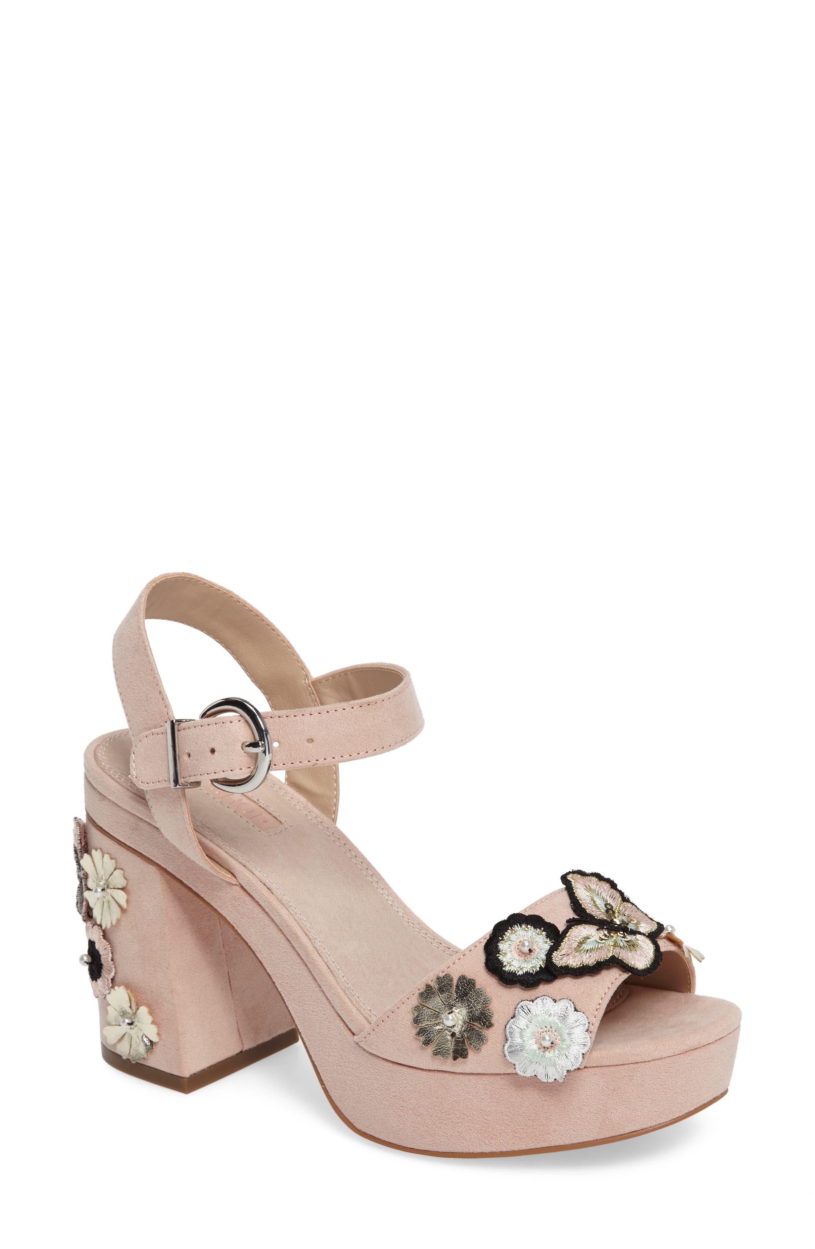 Topshop Laney Embellished Platform Sandal (Women)