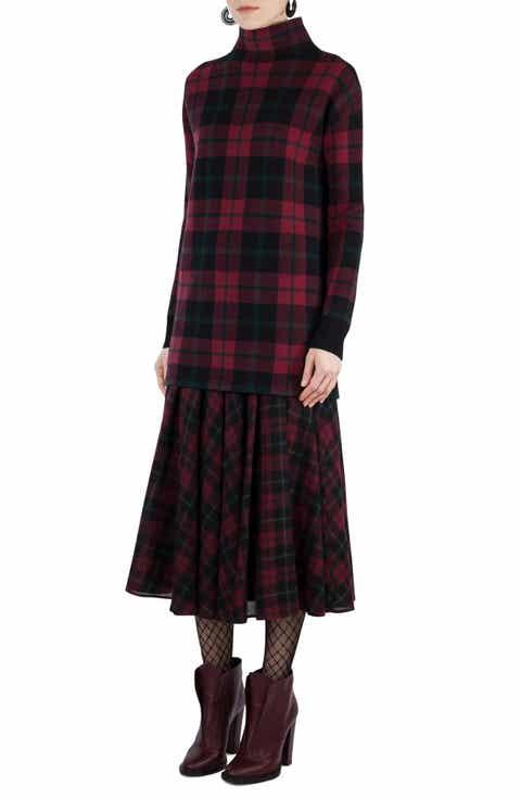 Akris punto Plaid Wool   Cashmere Tunic Pullover