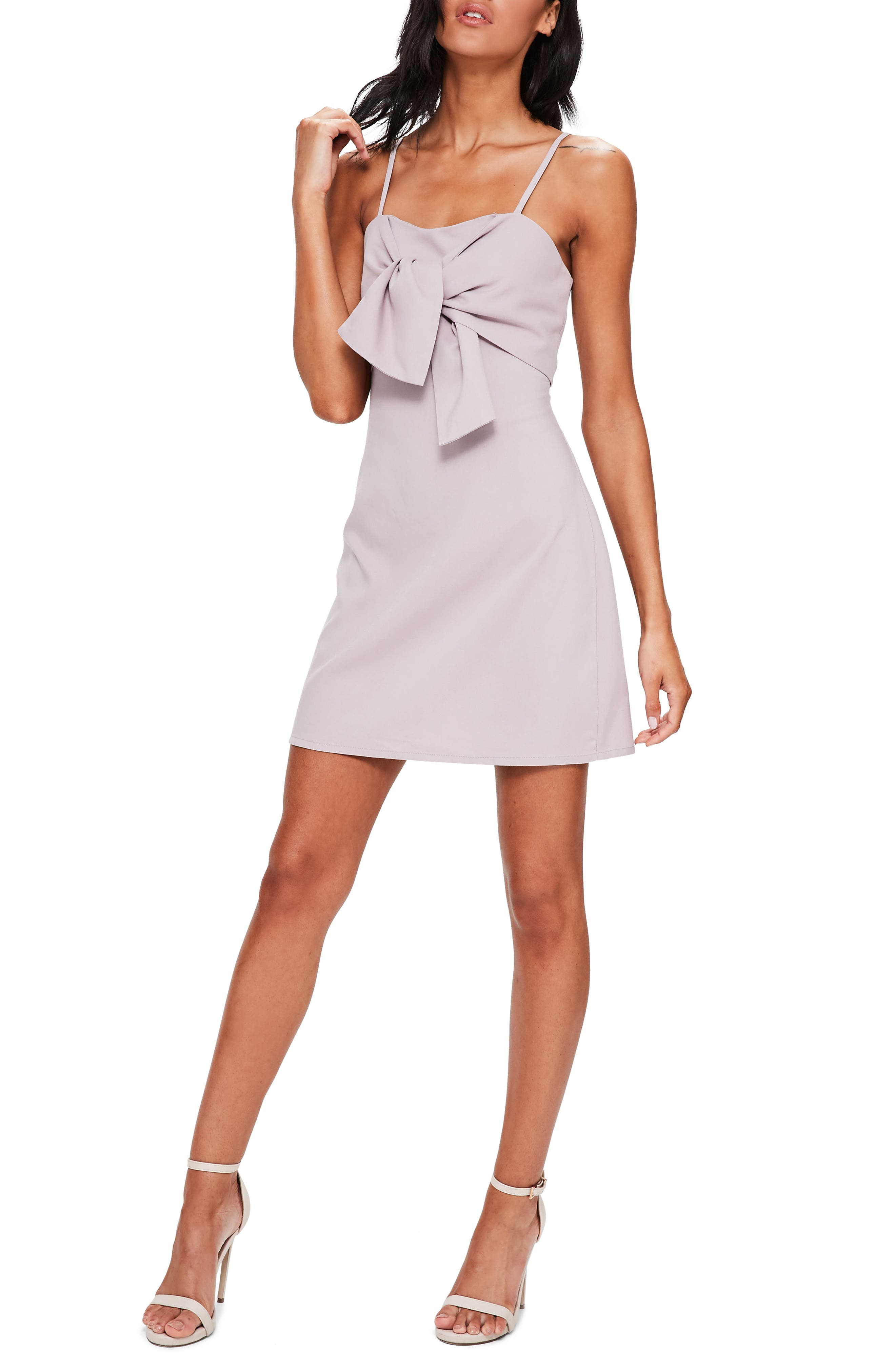Missguided Tie Front Minidress